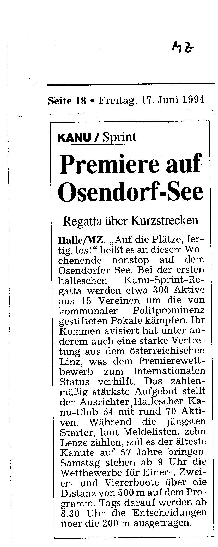 1994-06-17 MZ Premiere auf dem Osendorfer See