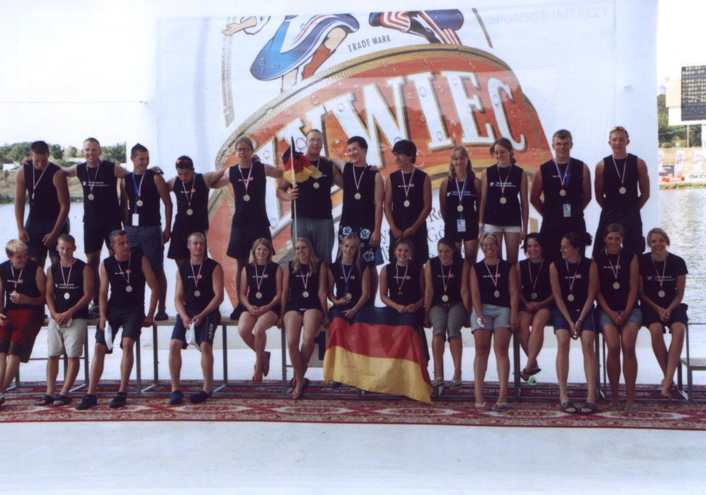 EM Poznan06 1.Platz Mixed 200m Siegerehrung