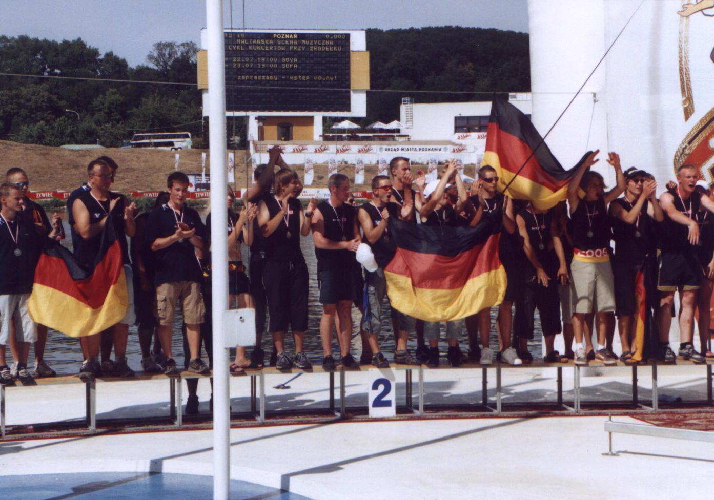 EM Poznan06 2.Platz 500m Siegerehrung