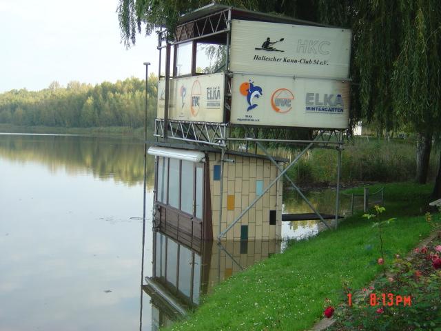 Zielhaus unter Wasser