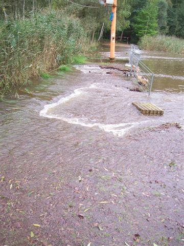 Das Reidewasser fließt ungehemmt in den Osendorfer See