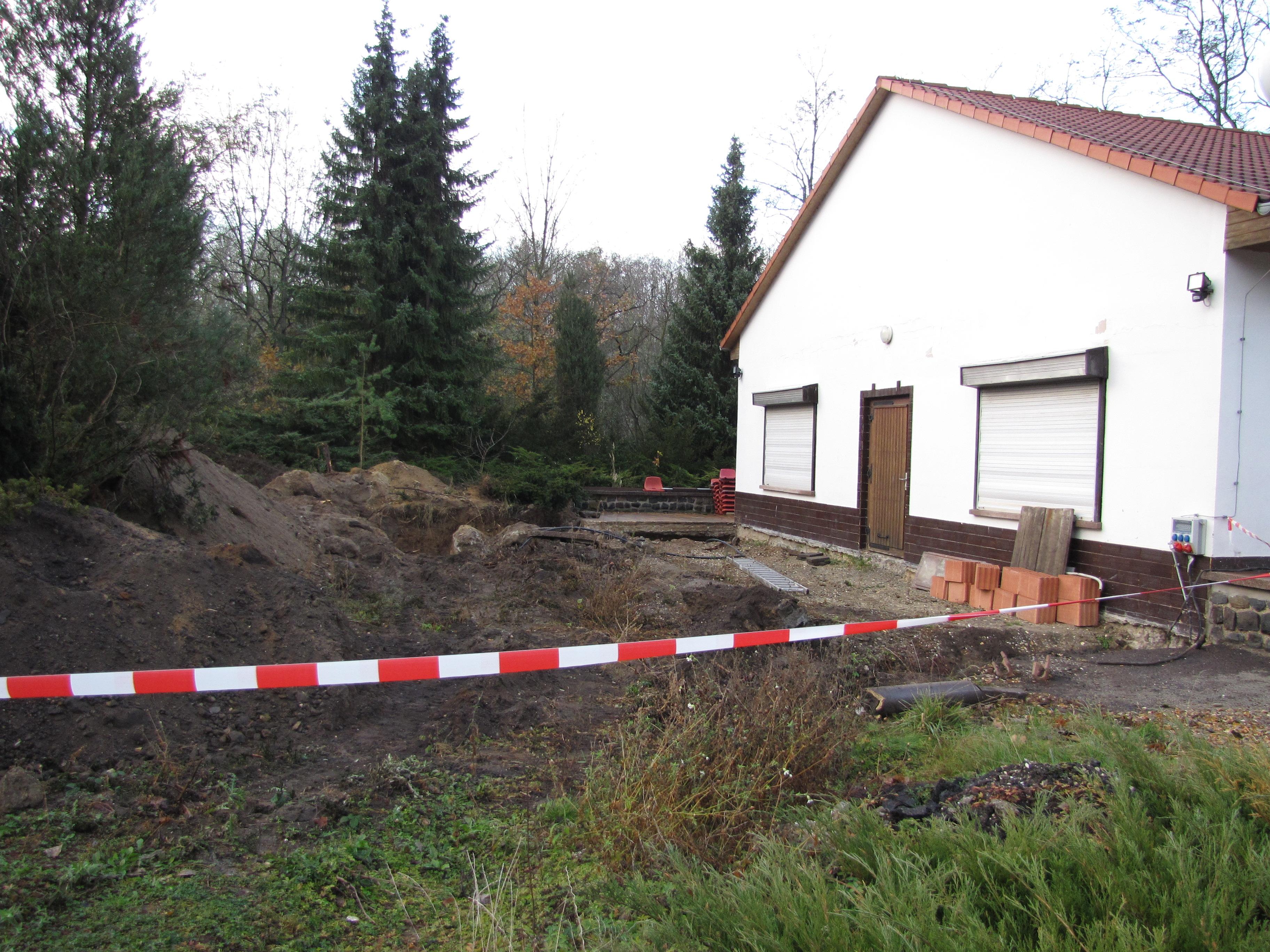 Sanitäranbau, geplante Fertigstellung 2013