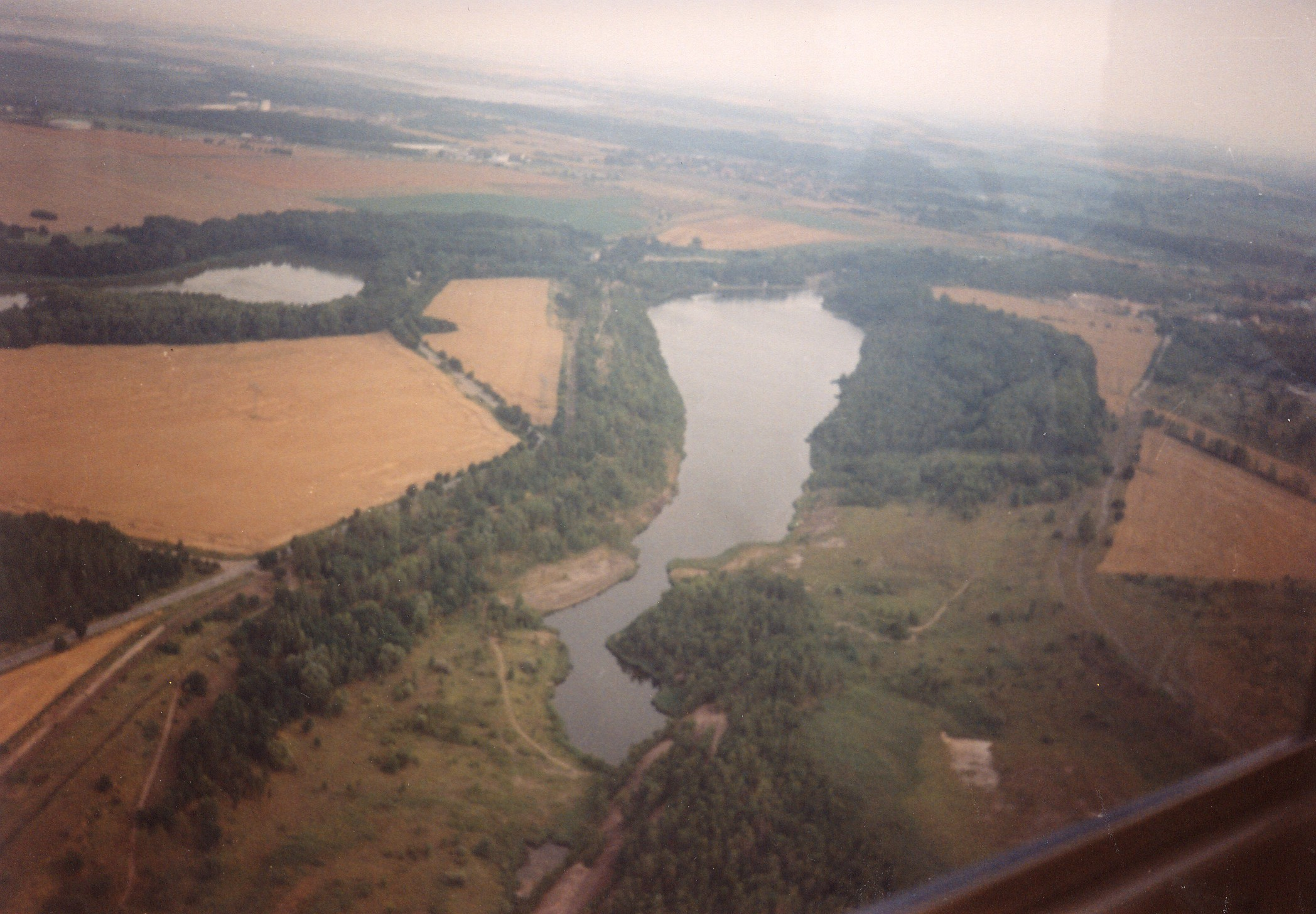Luftaufnahme aus Richtung Bucht