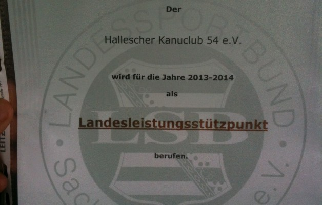 Neujahrsempfang des Stadtsportbundes Halle e.V.-Landesstützpunkt Parakanu in Halle