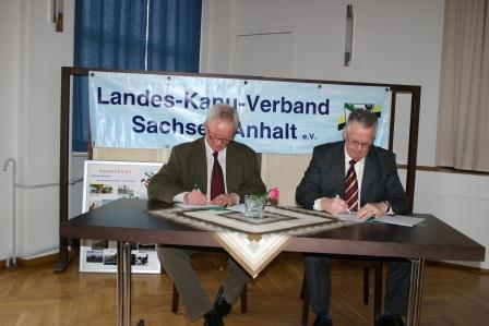 Kooperationsvereinbarung zwischen Landes- Kanu-Verband Sachsen-Anhalt e.V. und dem Behinderten- und Rehabilitations- Sportverband Sachsen-Anhalt e.V. abgeschlossen
