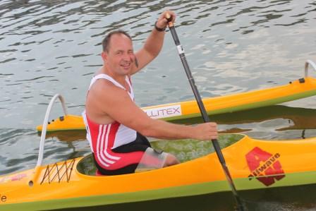 9. Platz von Ivo Kilian vom Halleschen Kanu-Club 54 e.V. im Endlauf der Váa TA über 200m