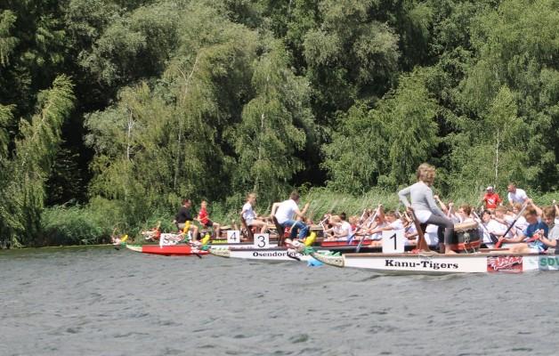 Größte Drachenbootveranstaltung Mitteldeutschlands am Heidesee