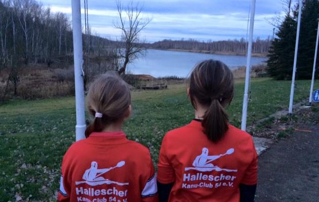 Nachwuchskanuten trainieren erstmals am Osendorfer See