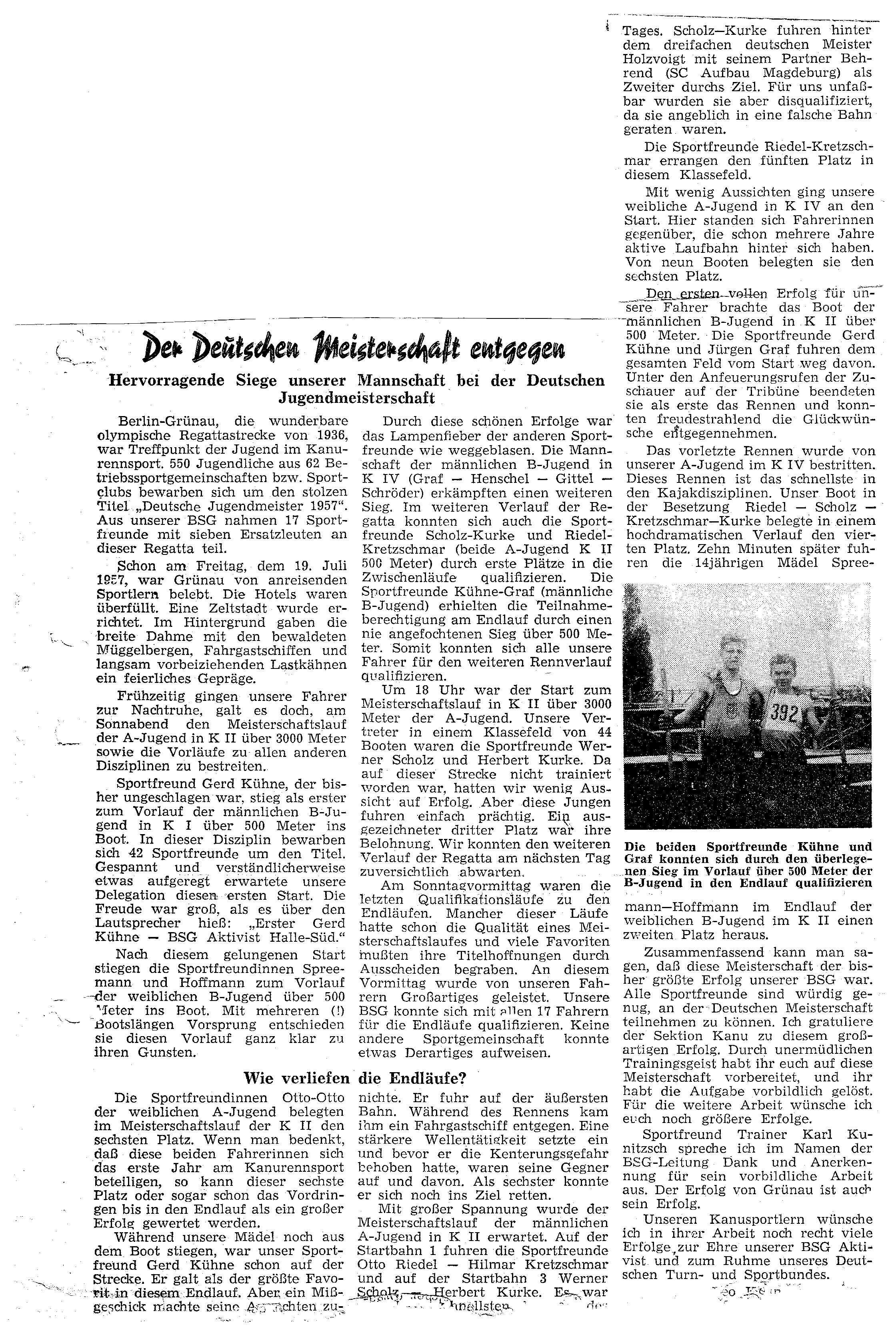 1957-07 Der Deutschen Meisterschaft entgegen