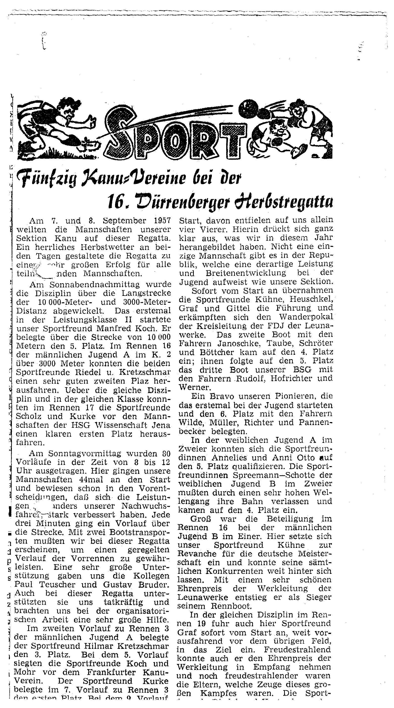 1957-09-08 Sport 50 Vereine bei der 16. Dürrenberger Herbstregatta