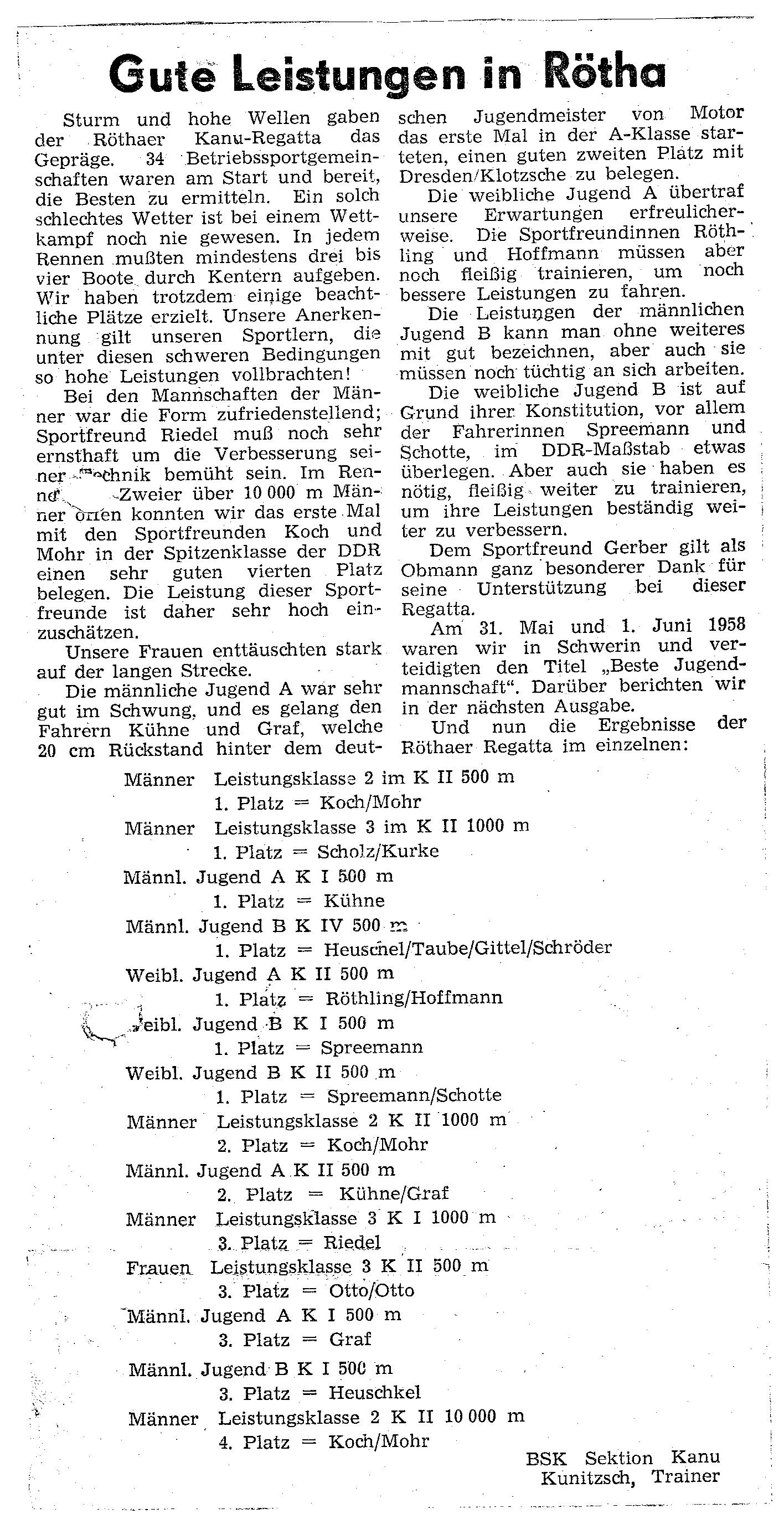 1958-06-01 Gute Leistungen in Rötha