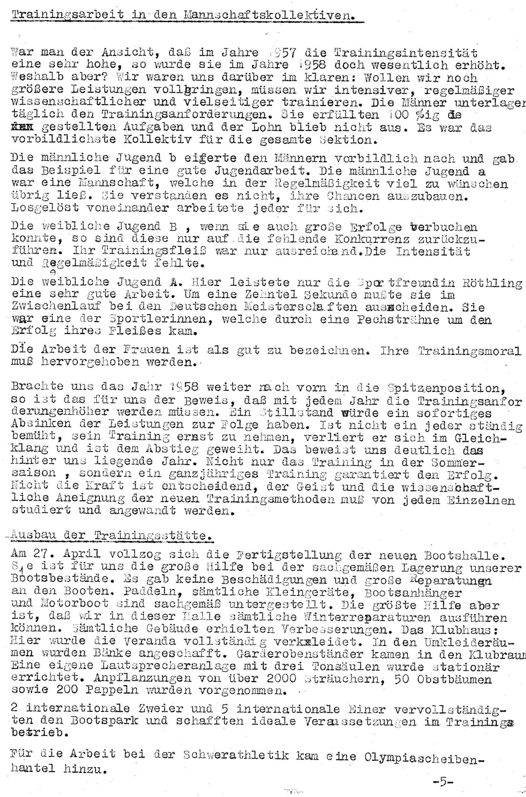 1958 Jahresauswertung