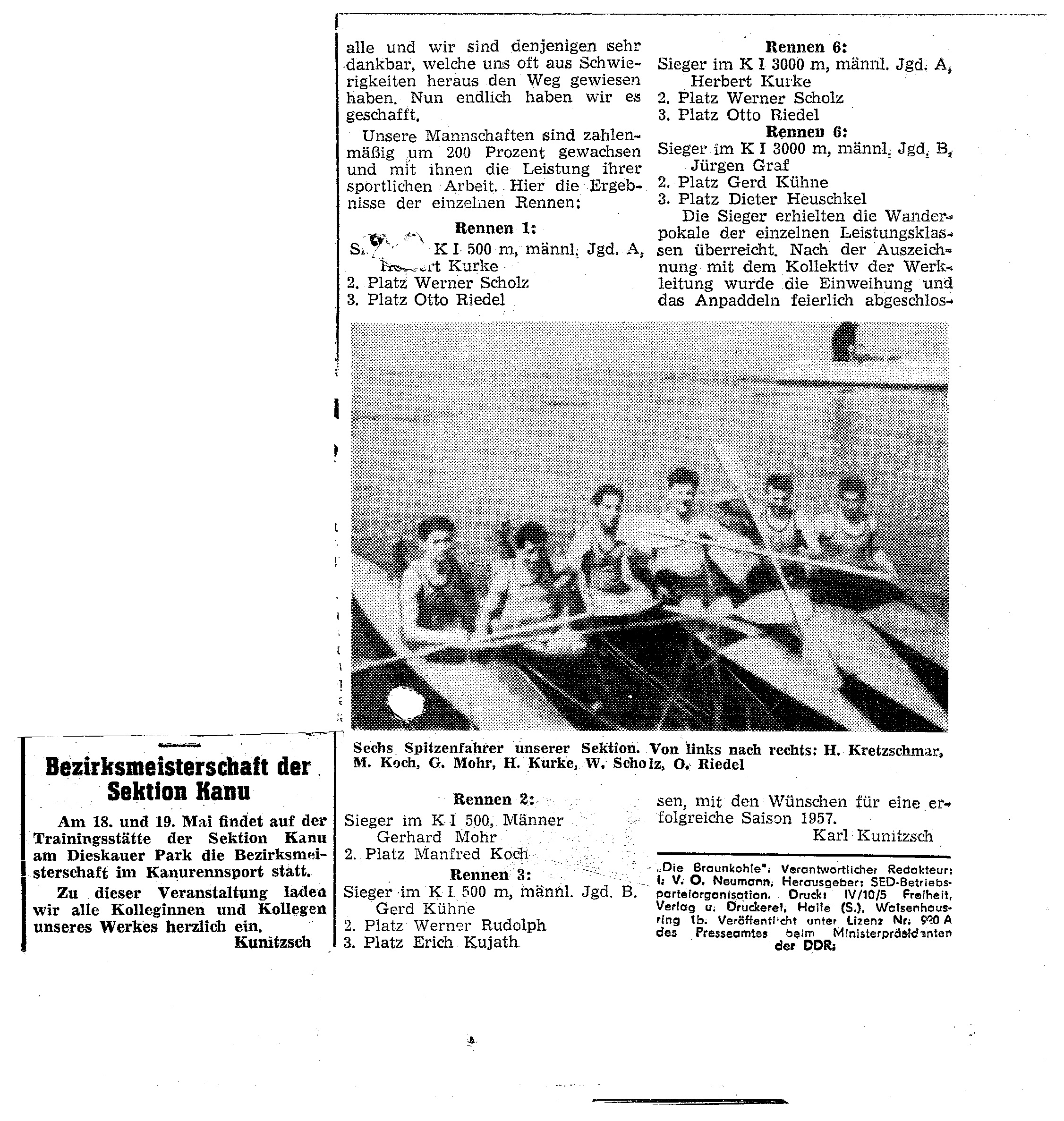 195x-05-19 Bezirksmeisterschaft der Sektion Kanu