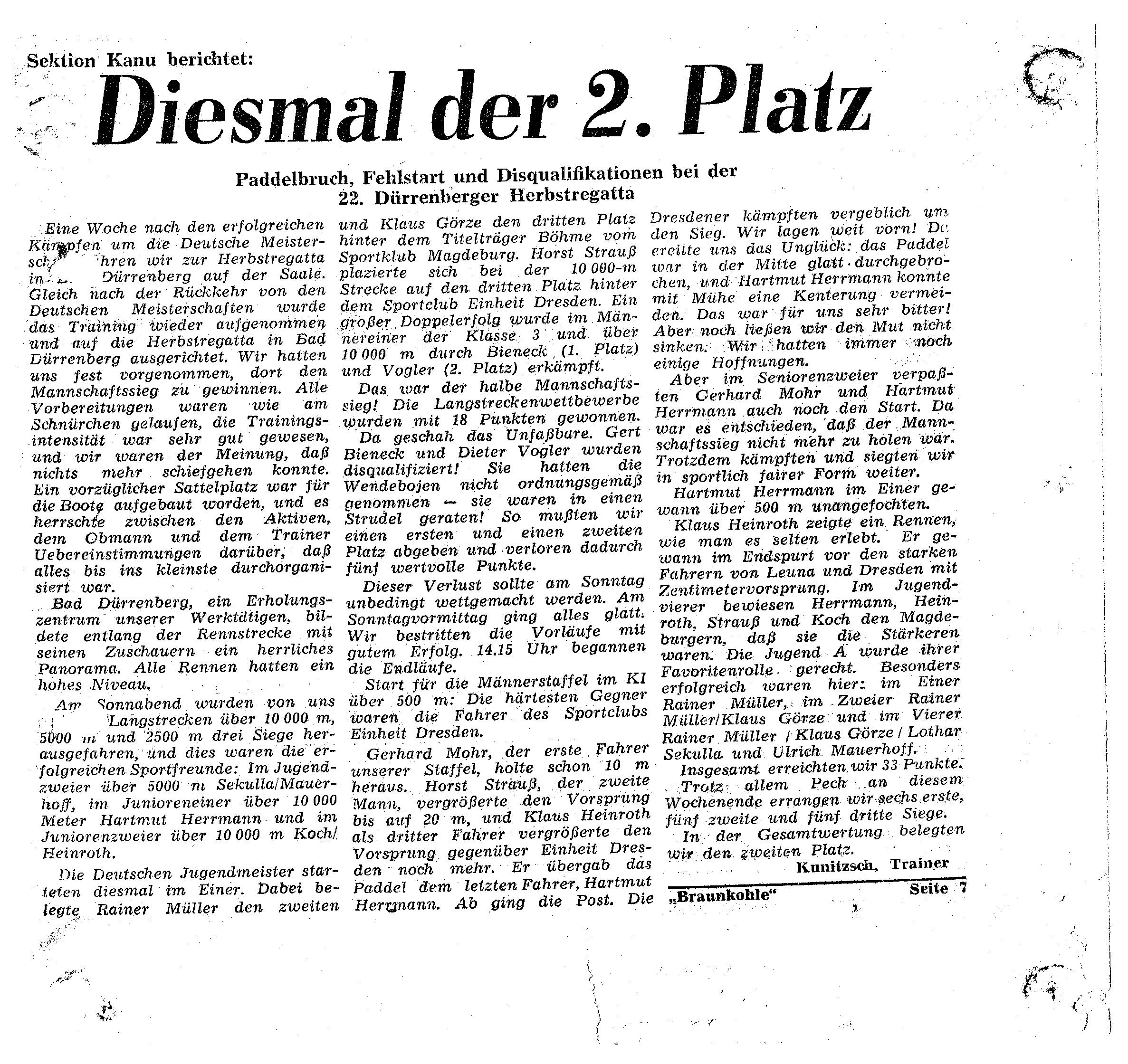 1960er Diesmal der 2.Platz