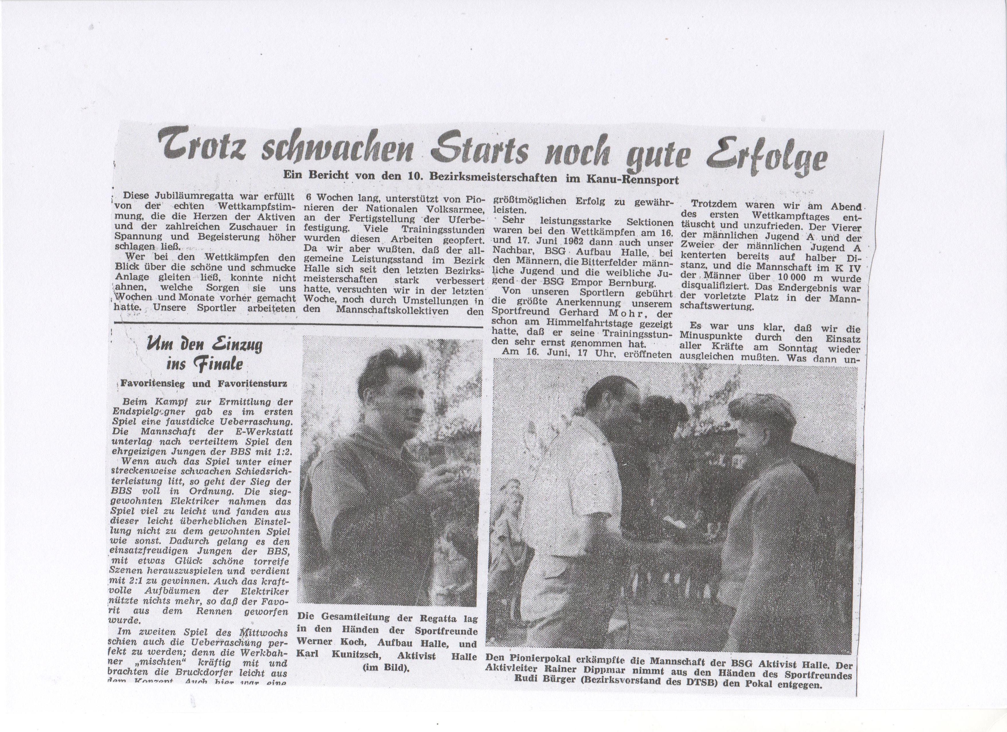 1962-06-17 Trotz schwachen Starts noch gute Erfolge
