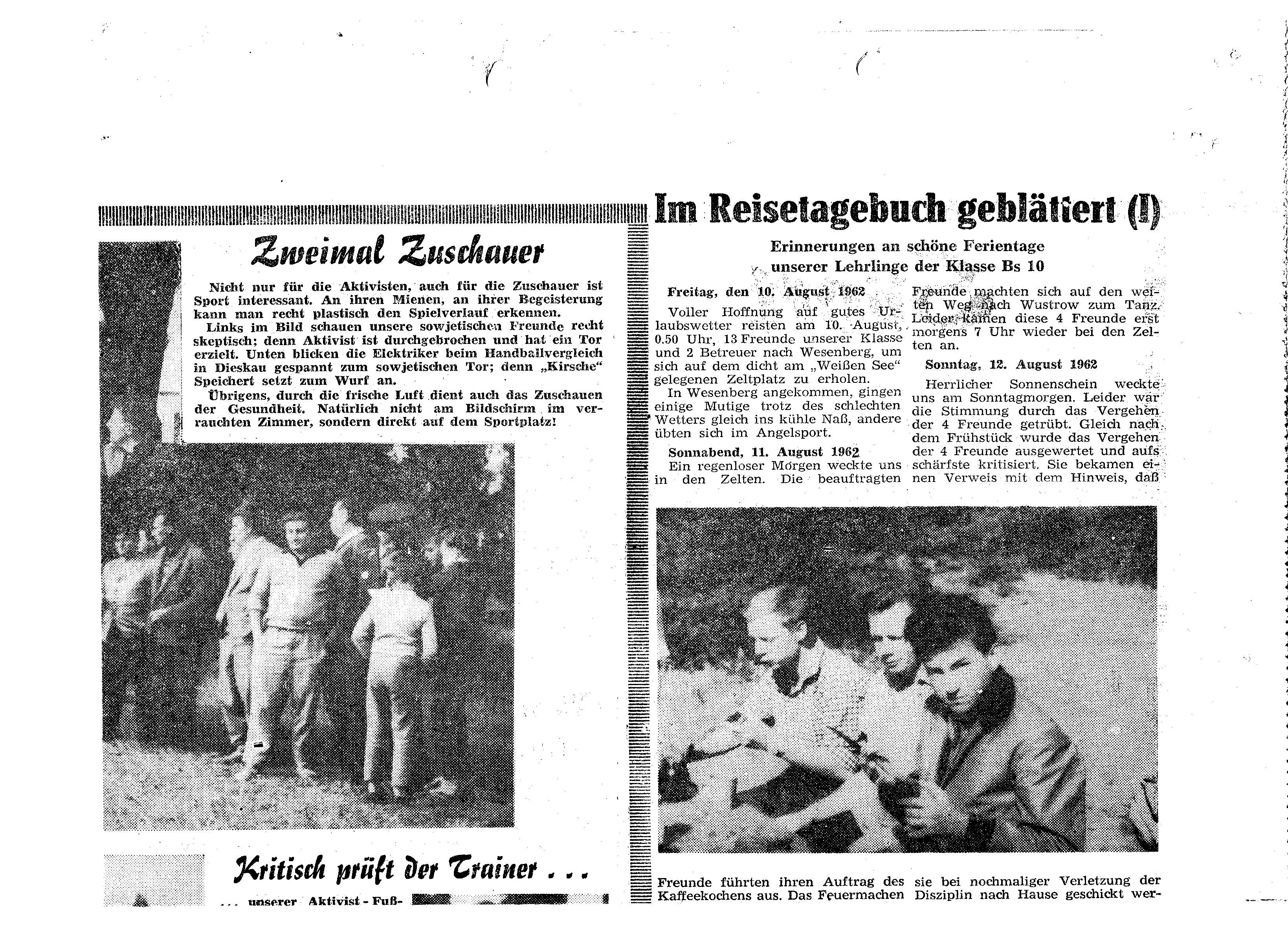 1962-08-13 Im Reisetagebuch geblättert