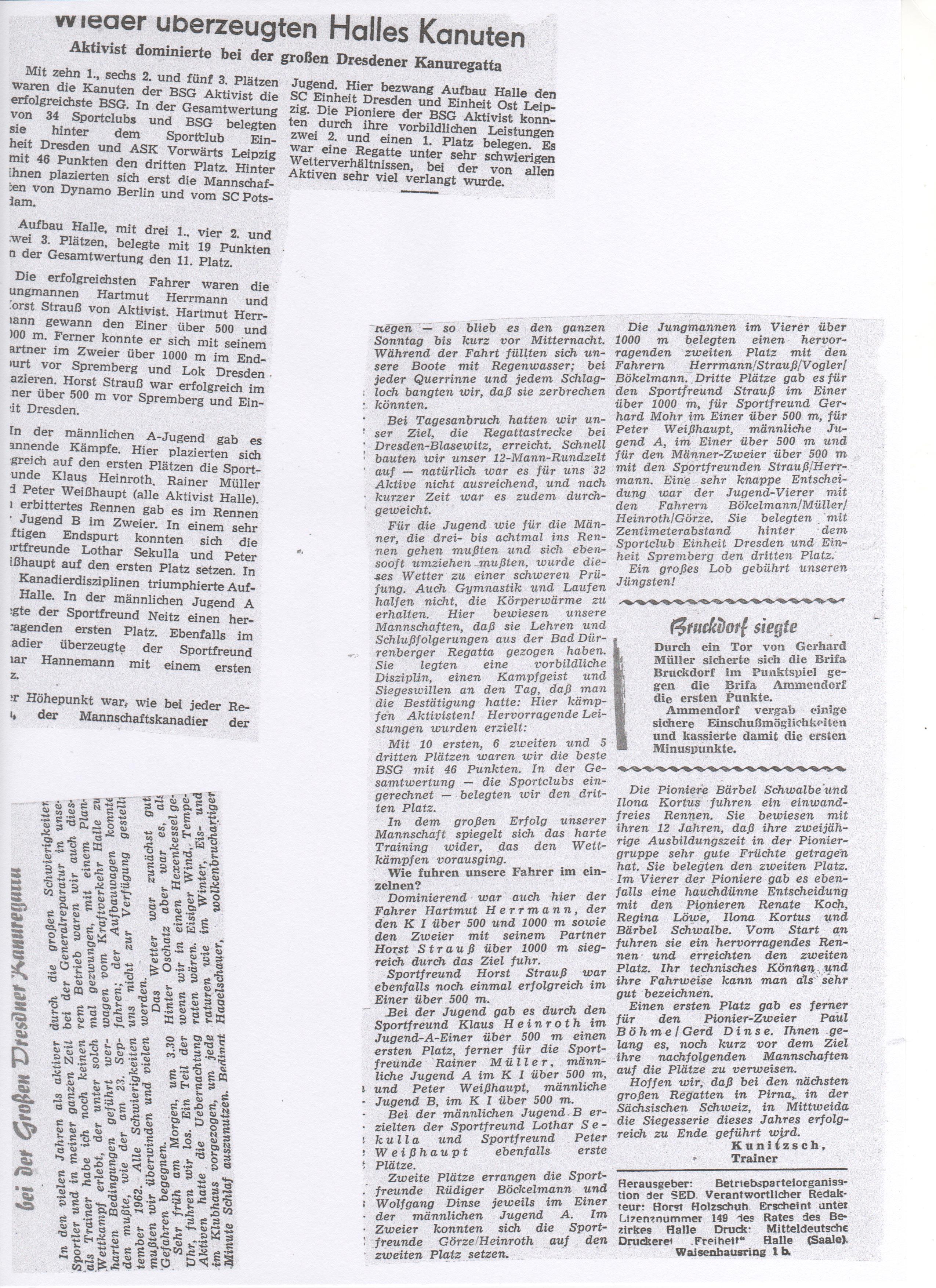 1962-09-23 Wieder überzeugen Halles Kanuten