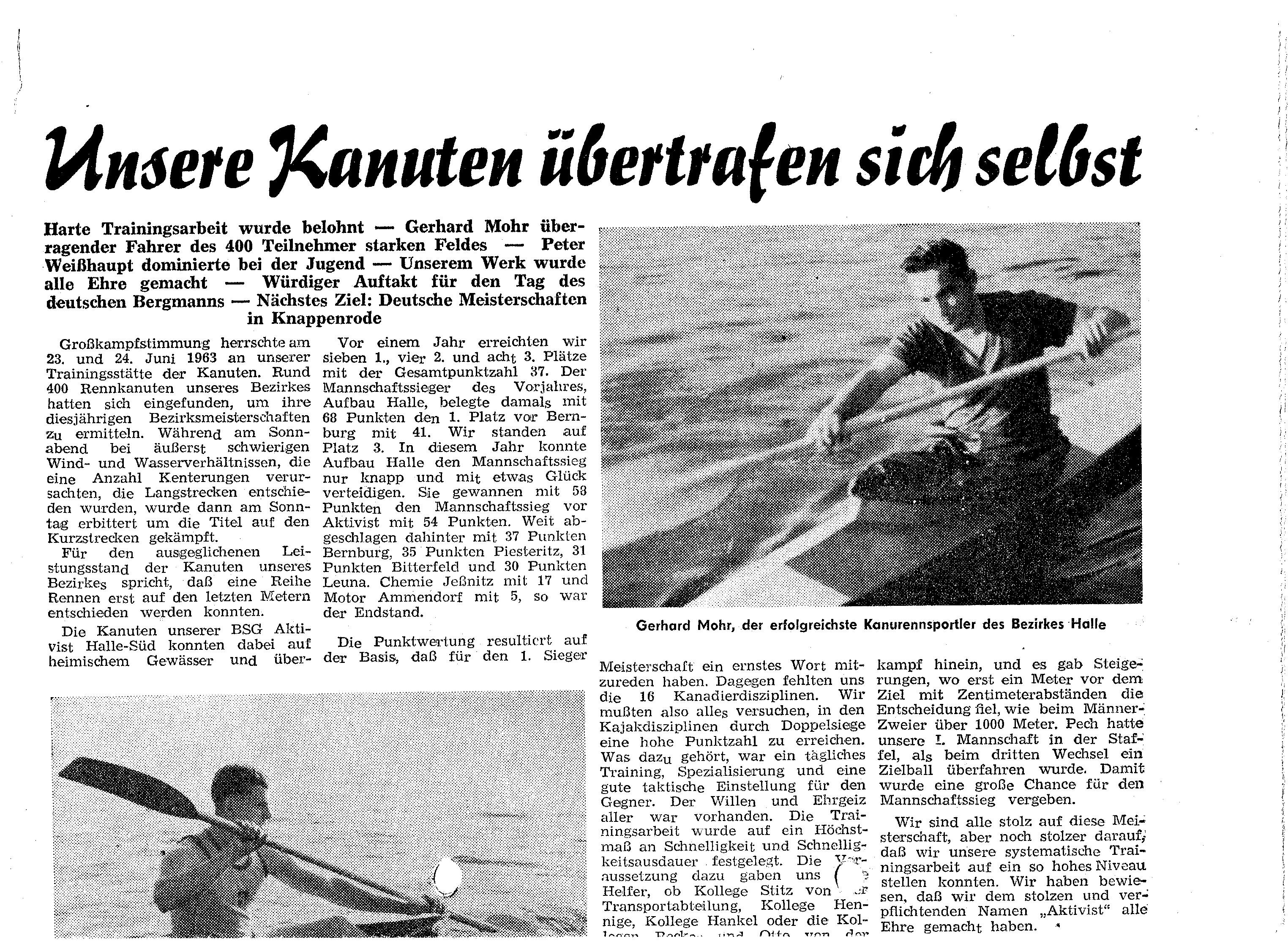 1963 -06-24Unsere Kanuten übertrafen sich selbst