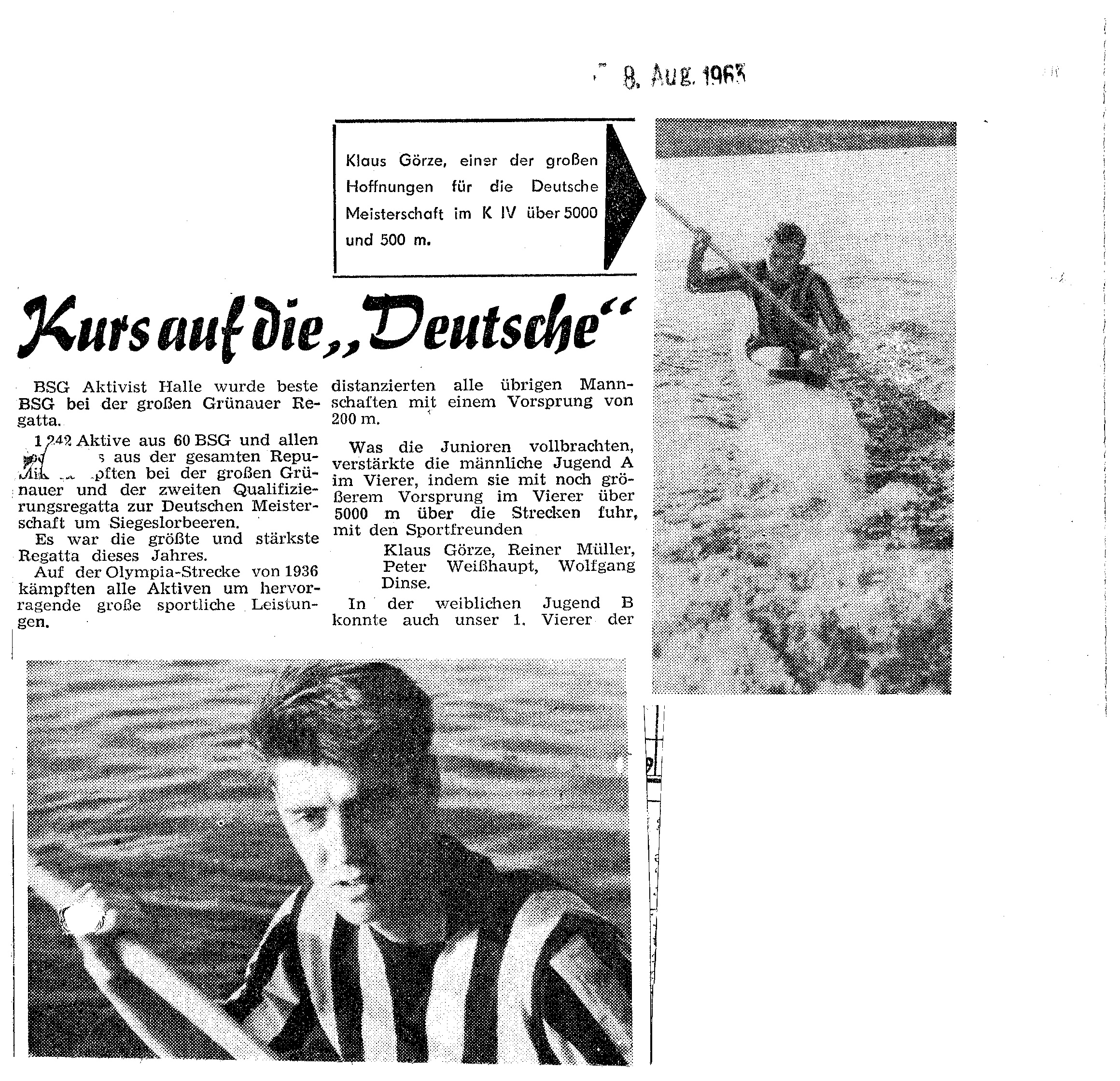 1963-08-08 Kurs auf die Deutsche