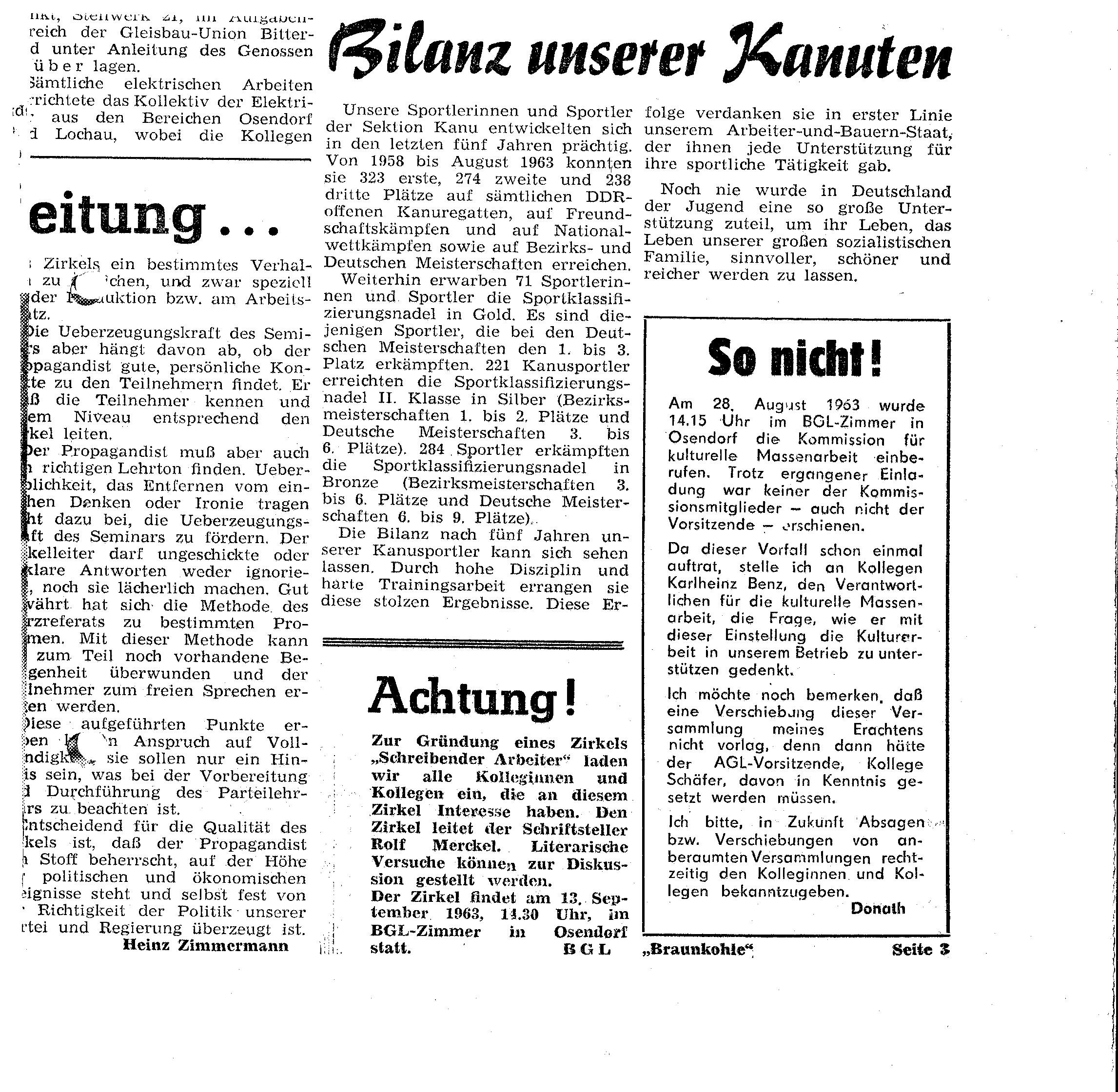 1963-08-28 Bilanz unserer Kanuten