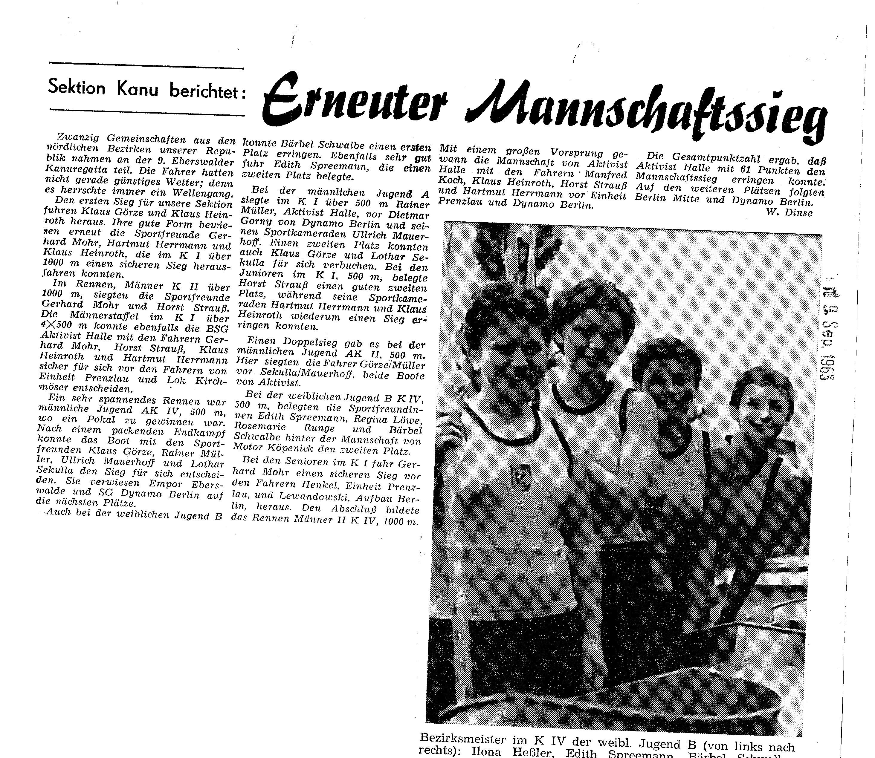 1963-09-09 Erneuter Mannschaftssieg