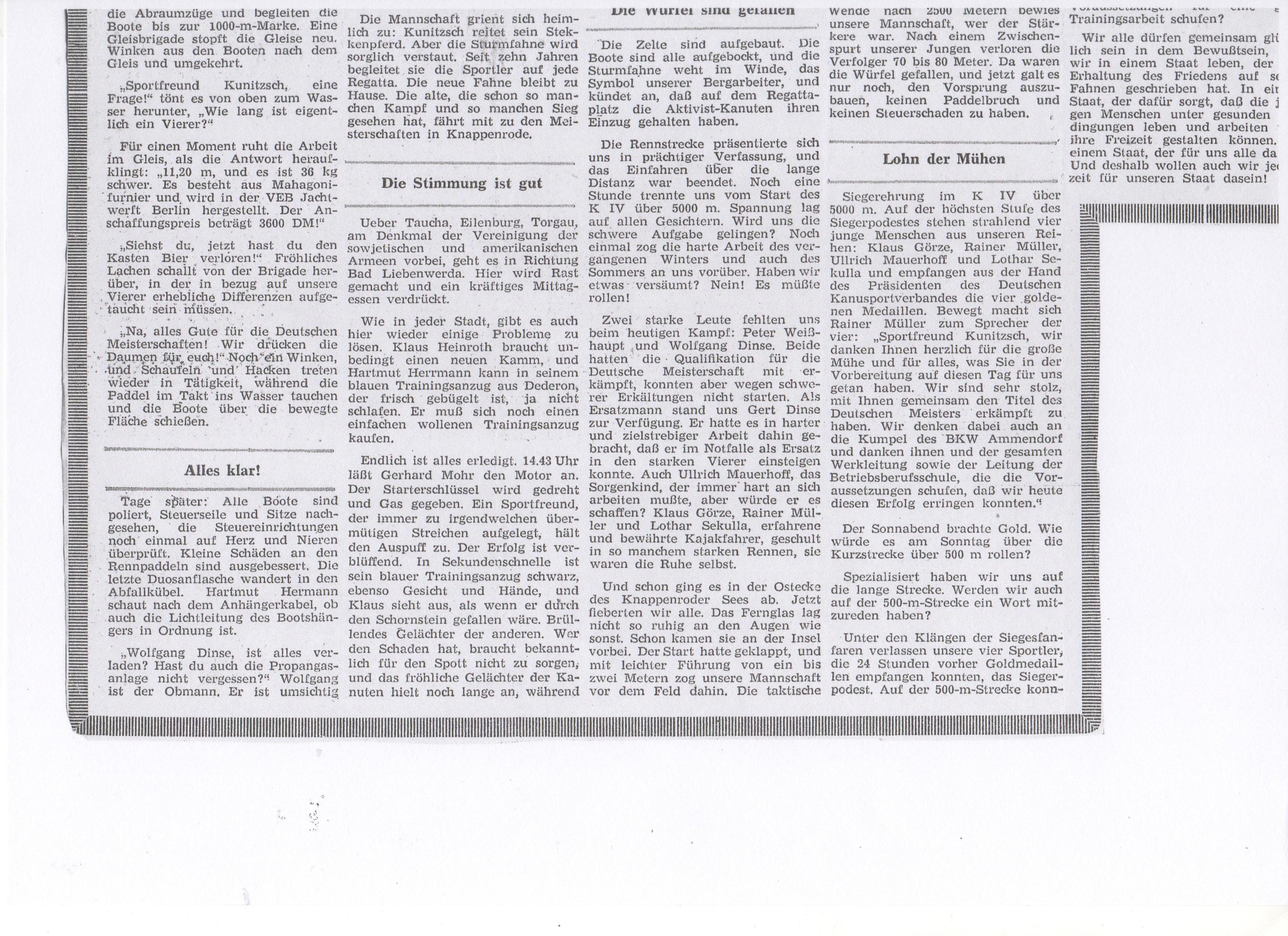 1963-Training, Kampf und Lorbeeren-Kanuten wurden Deutscher Meister im Vierer-Kajak (2)