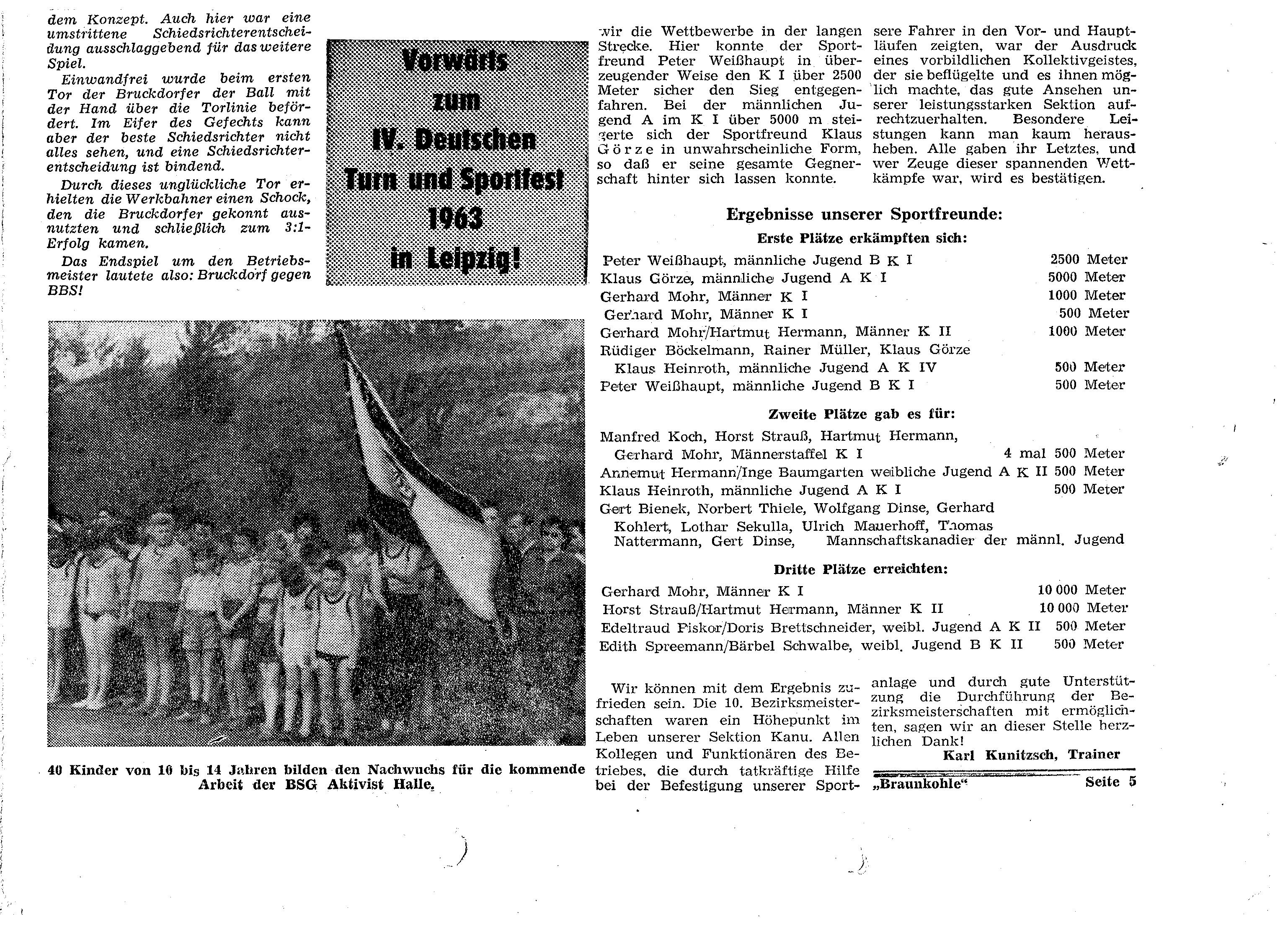 1963 Vorwärts zum 4 Deutschen Turnfest in Leipzig