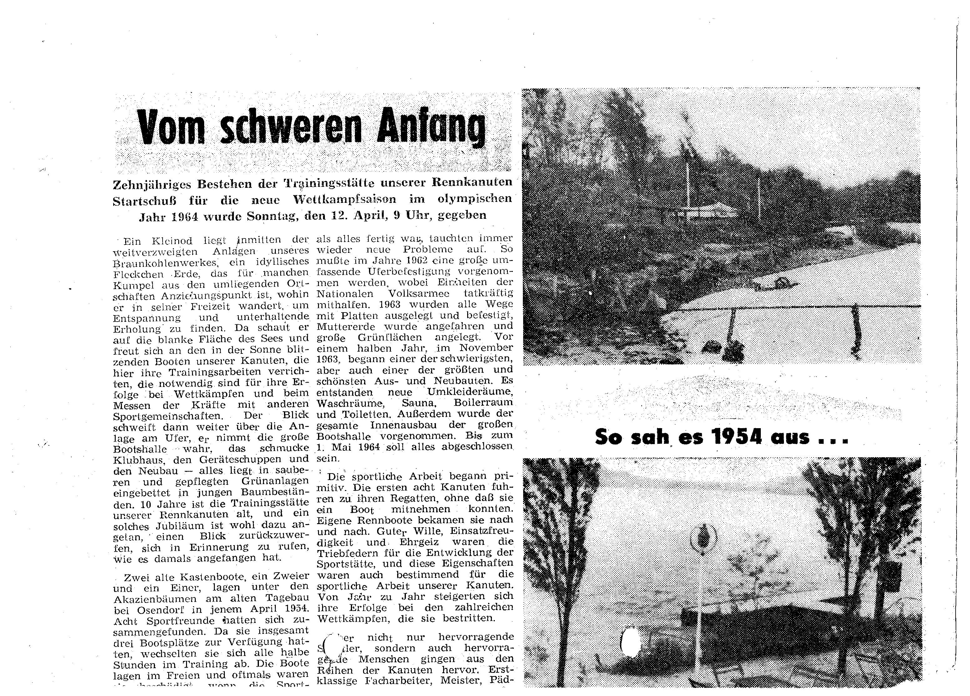 1964-04-12 Vom schweren Anfang