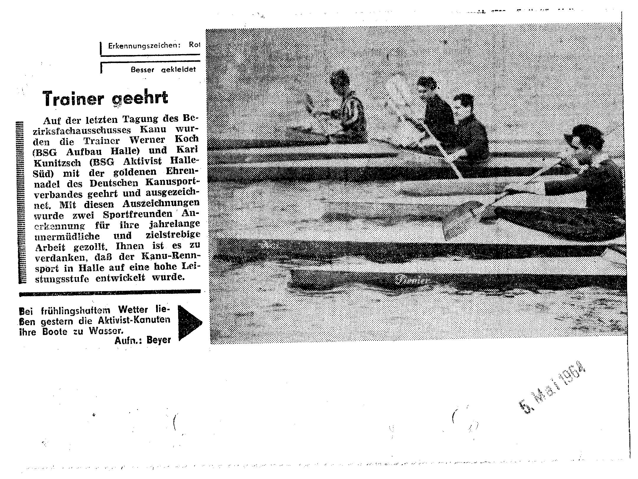 1964-05-05 Trainerehrung