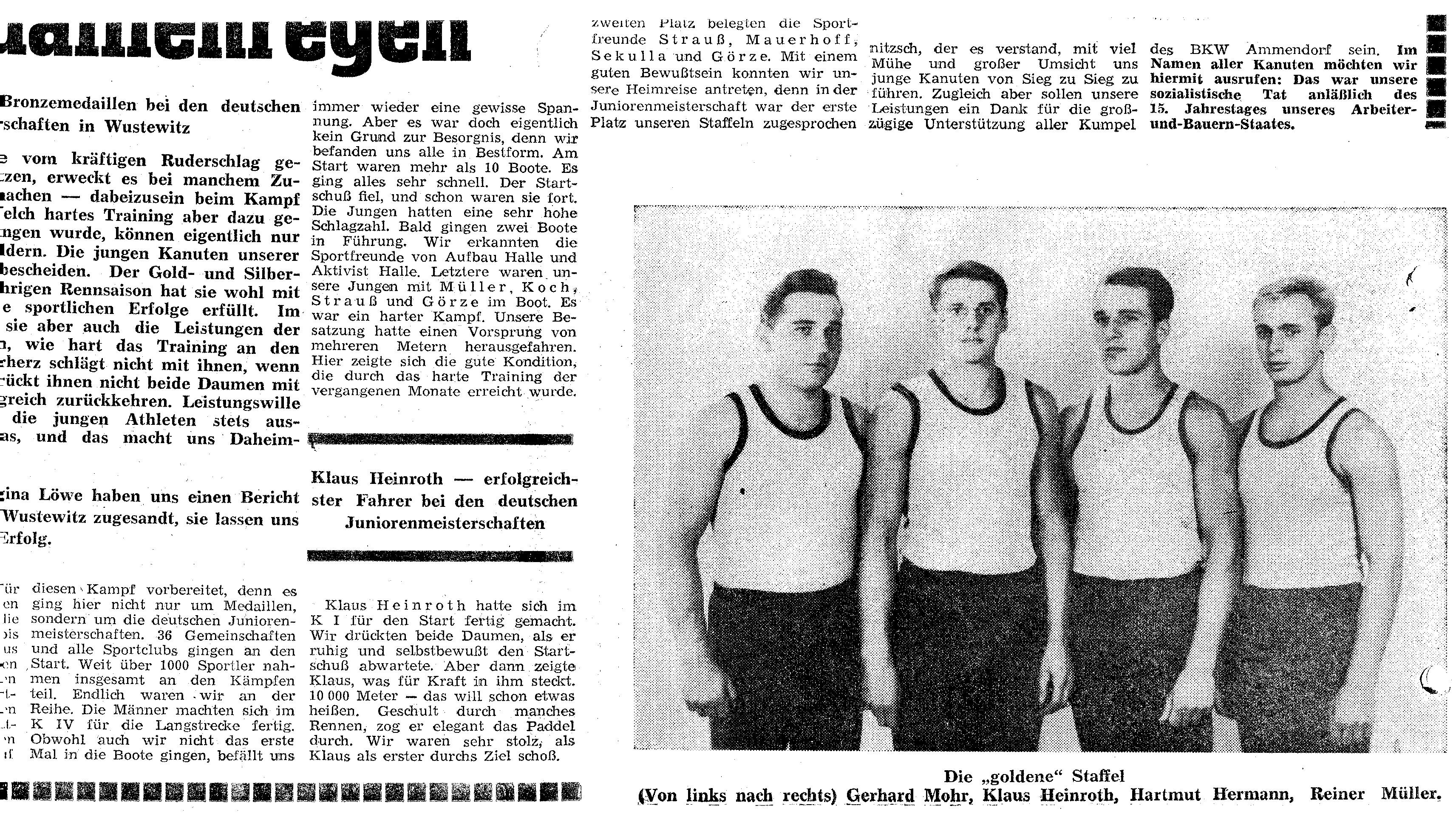 1964-08-16 JDM Wusterwitz- Ein Gold-und Silber-medaillenregen (1)