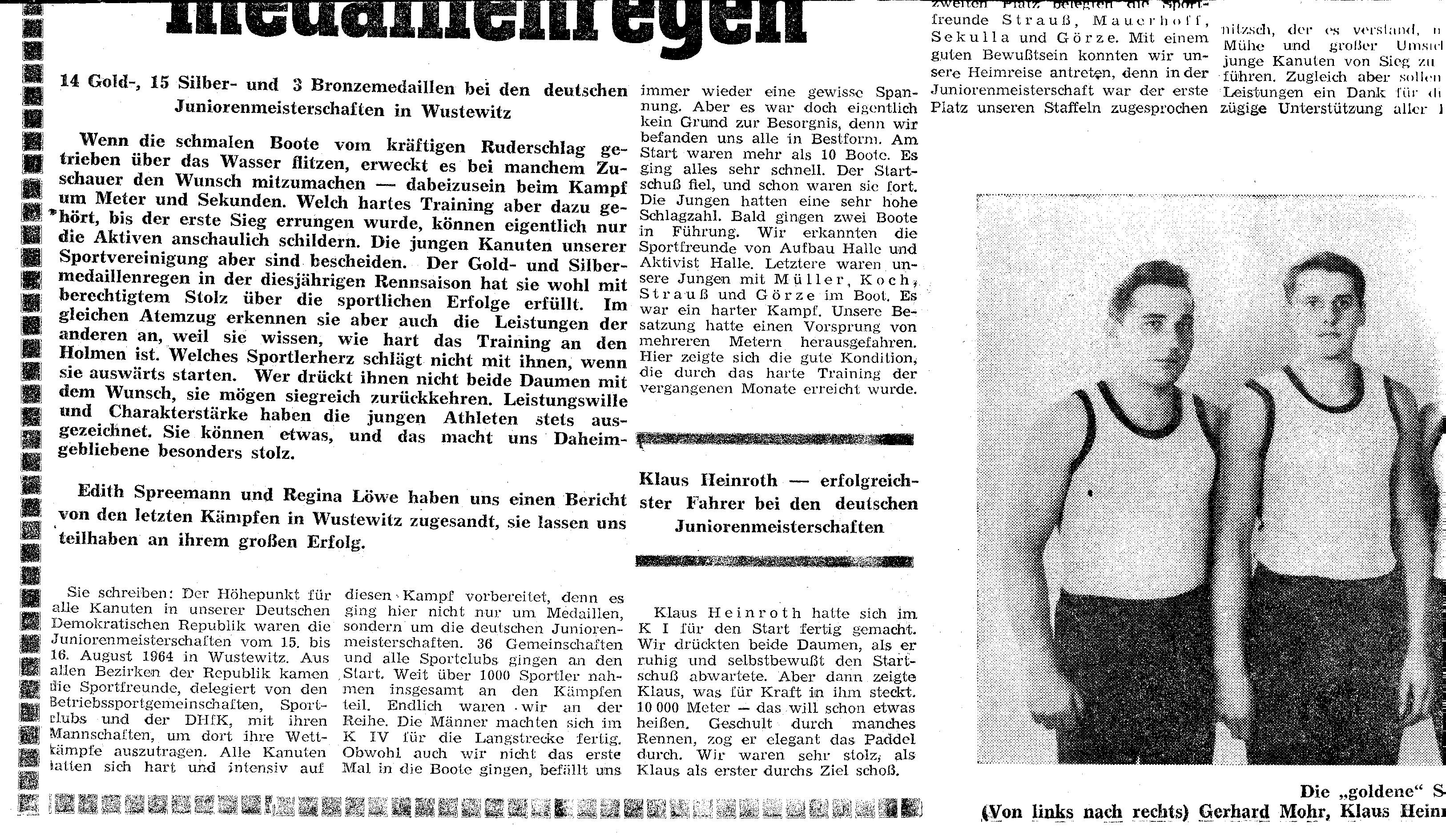1964-08-16 JDM Wusterwitz- Ein Gold-und Silber-medaillenregen (2)