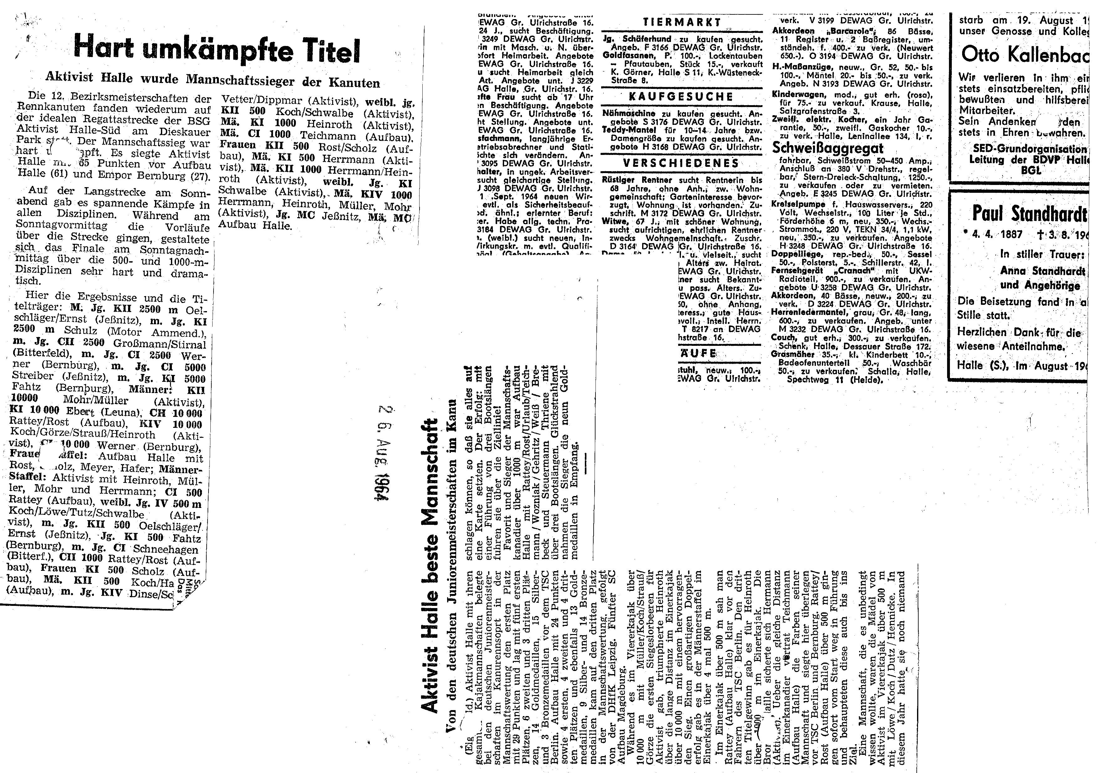 1964-08-26 Hartumkämpfte Titel
