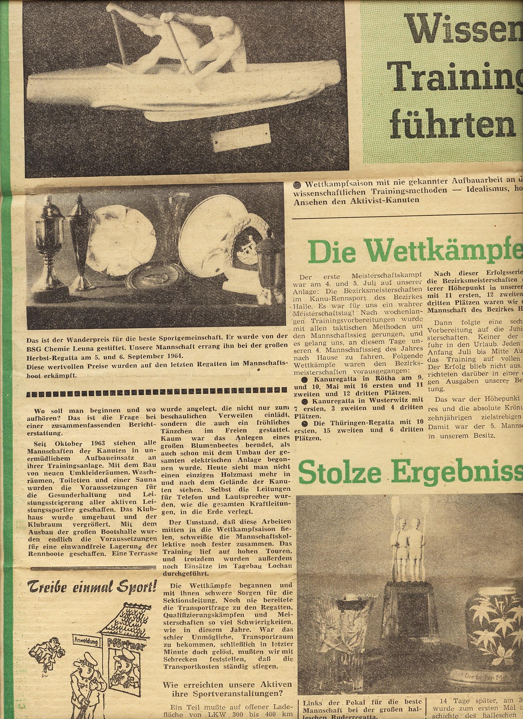 1964-10 Wissenschaftliche Trainingsmethoden führten zu Erfolgen (1)