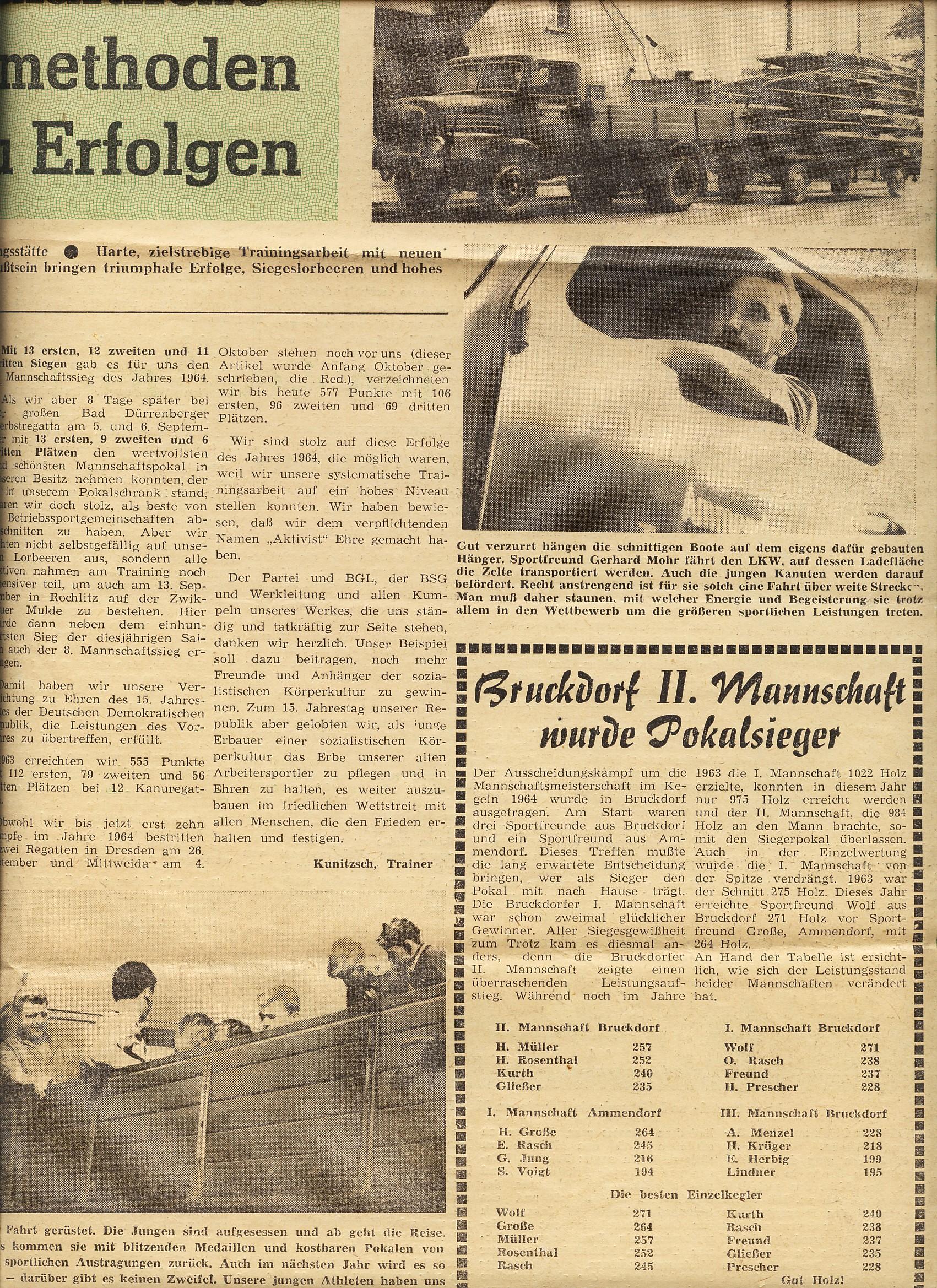 1964-10 Wissenschaftliche Trainingsmethoden führten zu Erfolgen (2)