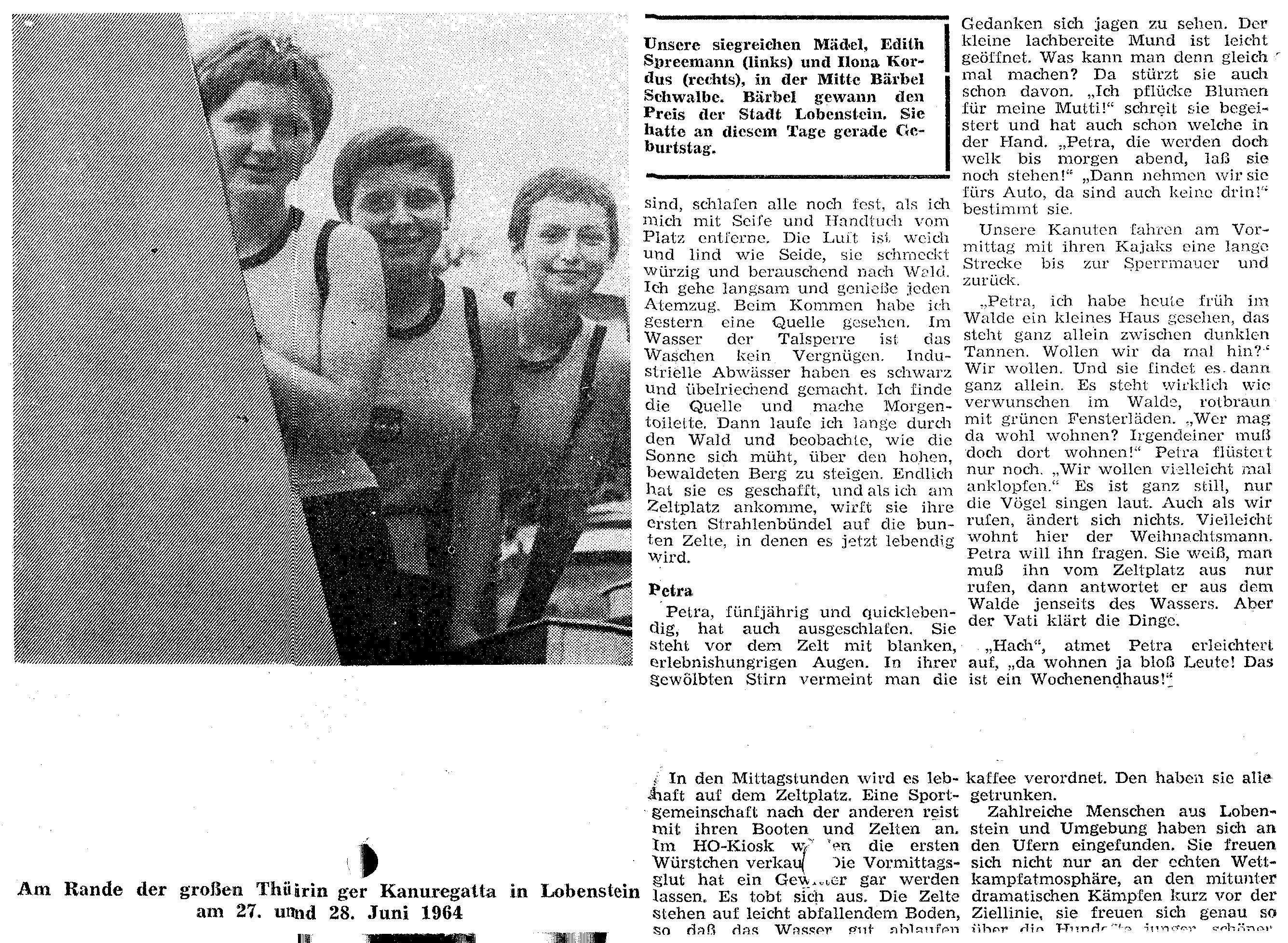 1964 am Rande der Thüringer regatta