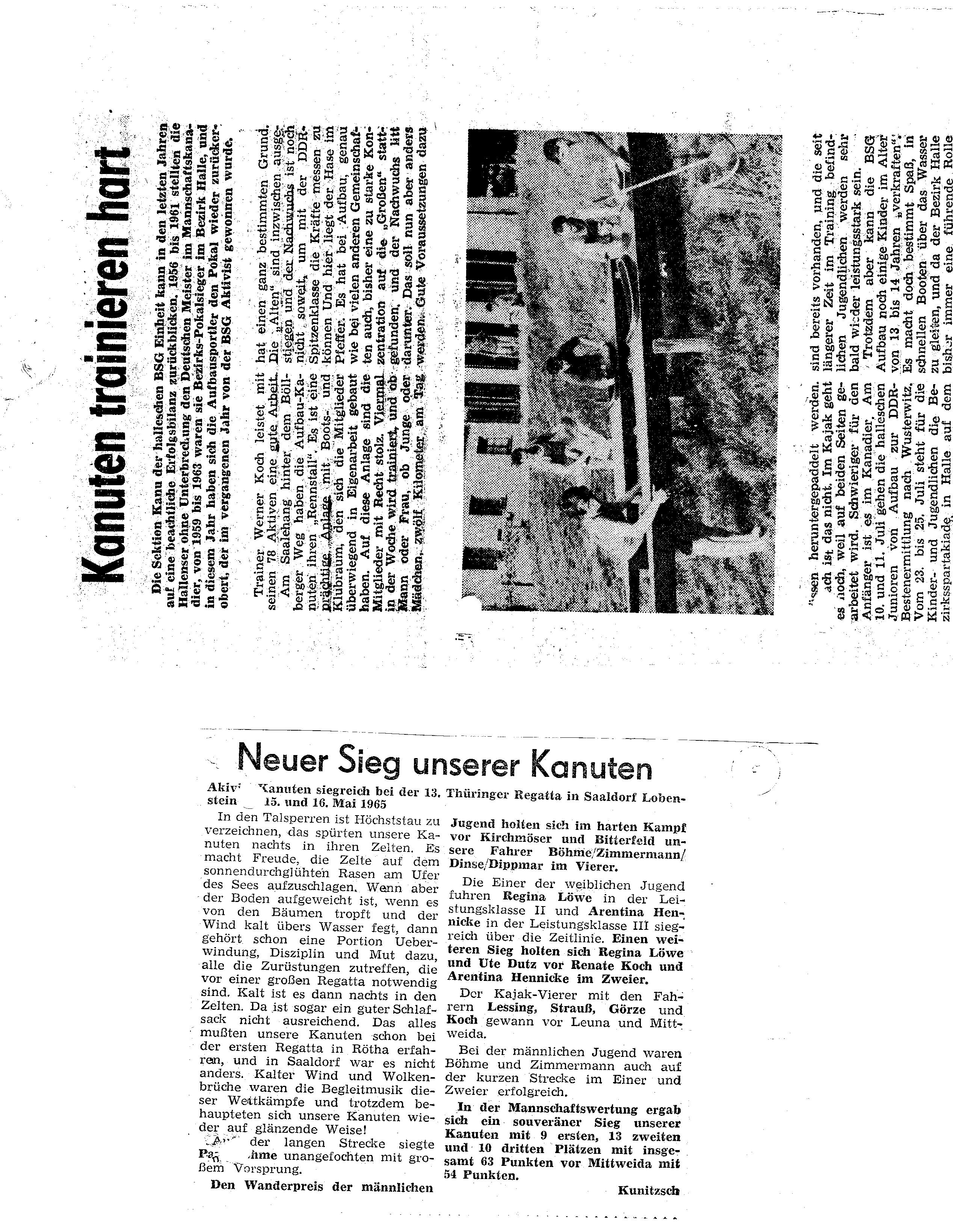 1965-06-16 Kanuten trainiern hart