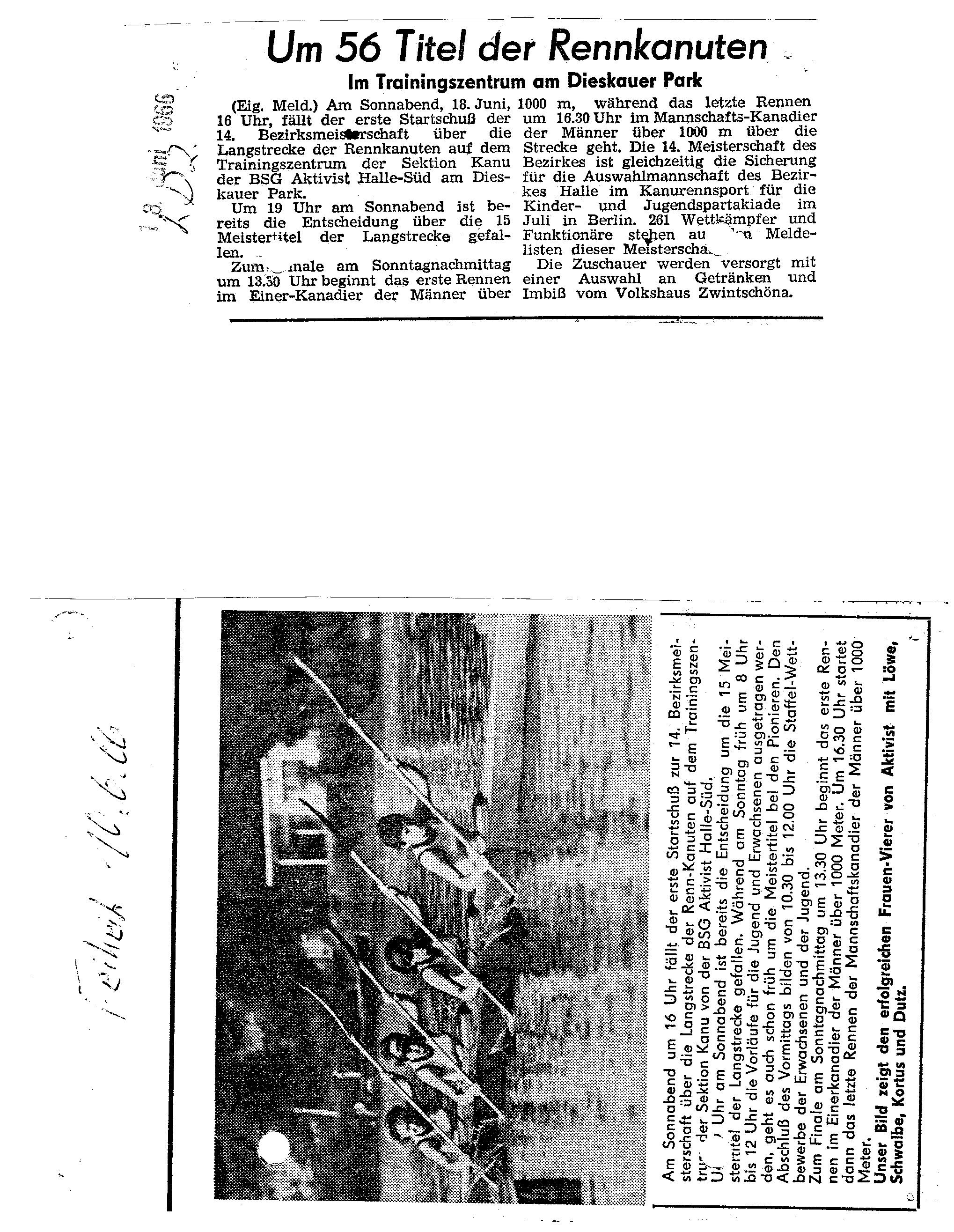 1966-06-18 Freiheit Um 56 Titel der Rennkanuten