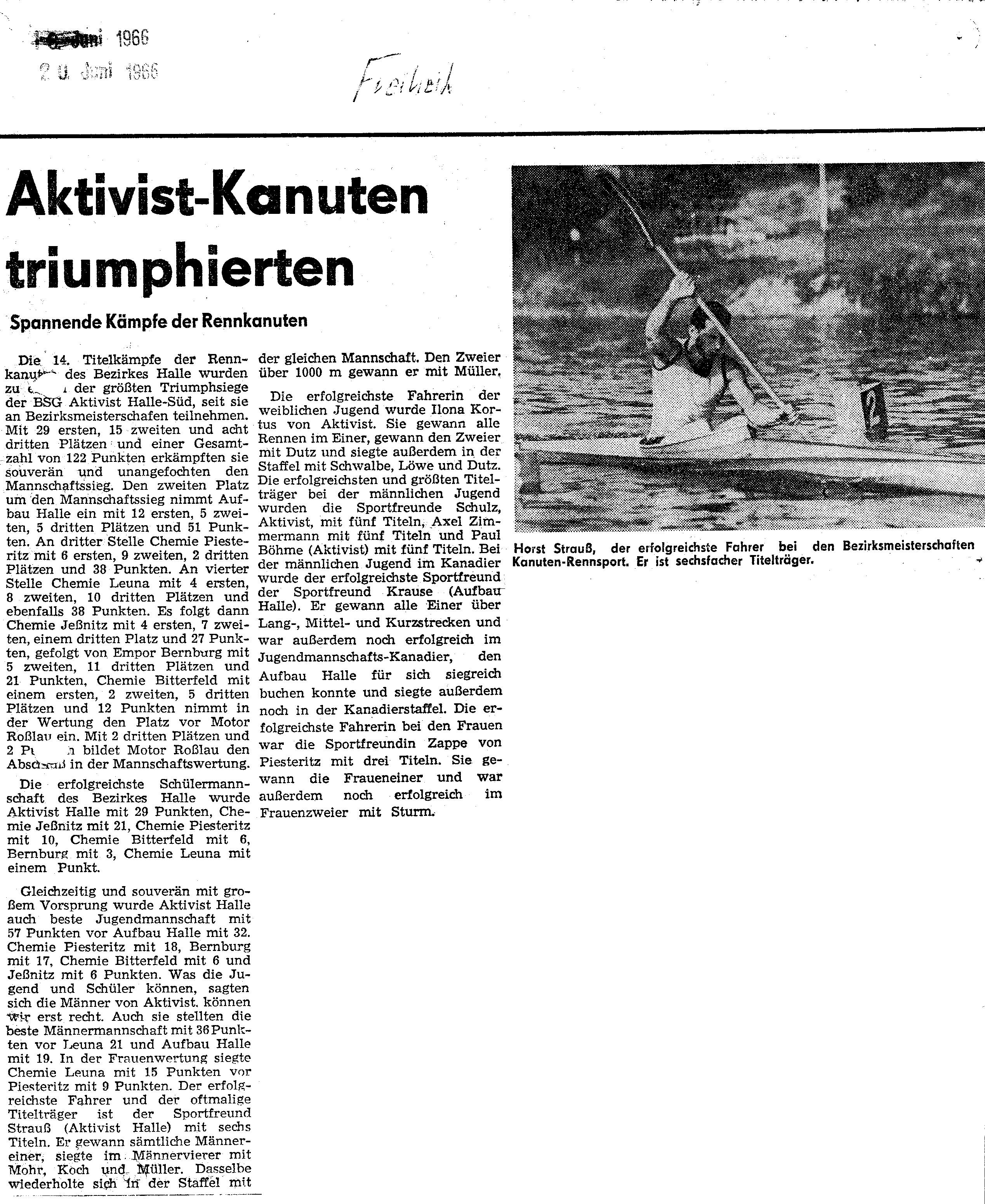 1966-06-20 Freiheit Aktivist Kanuten triumphierten