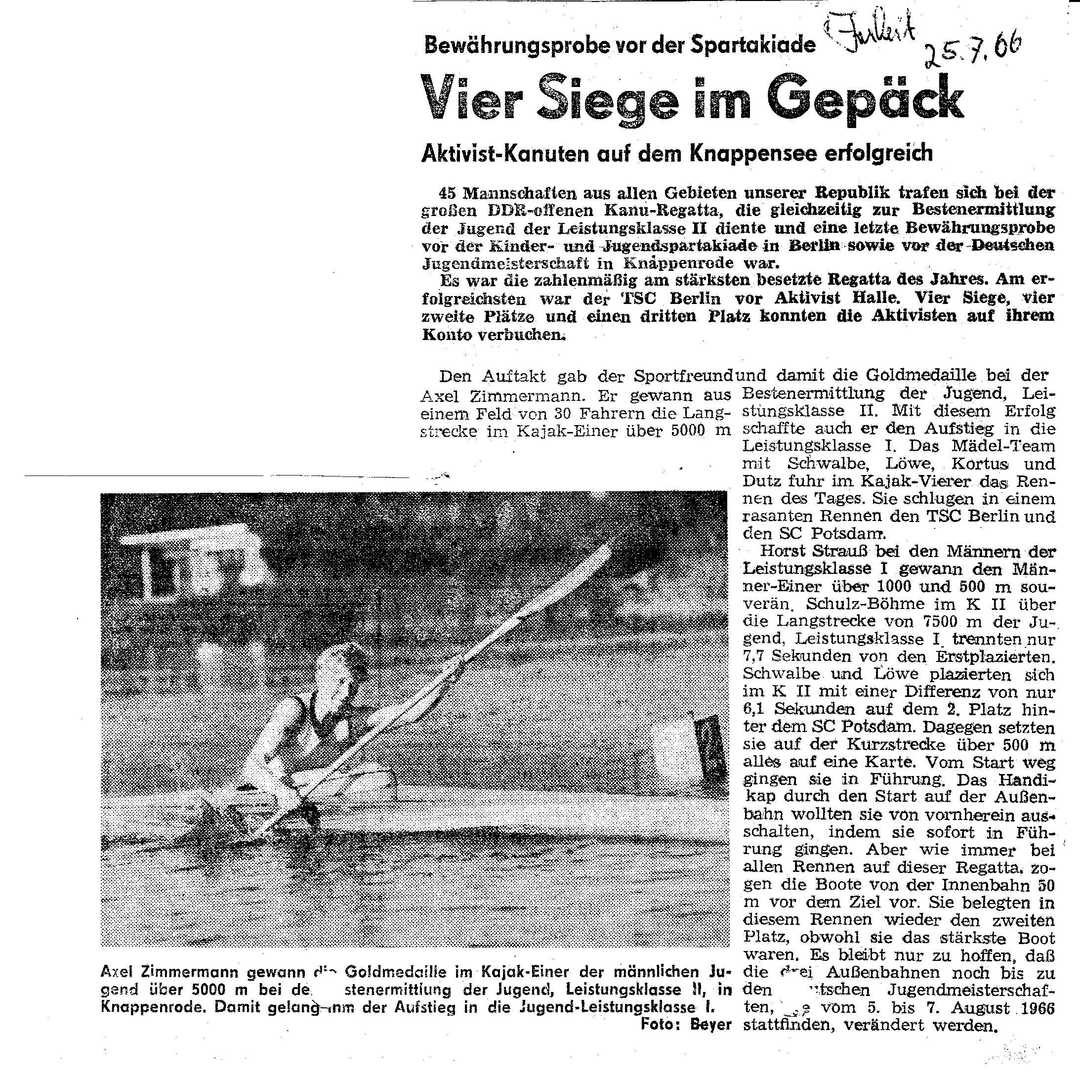 1966-07-25 Vier Siege im Gepäck