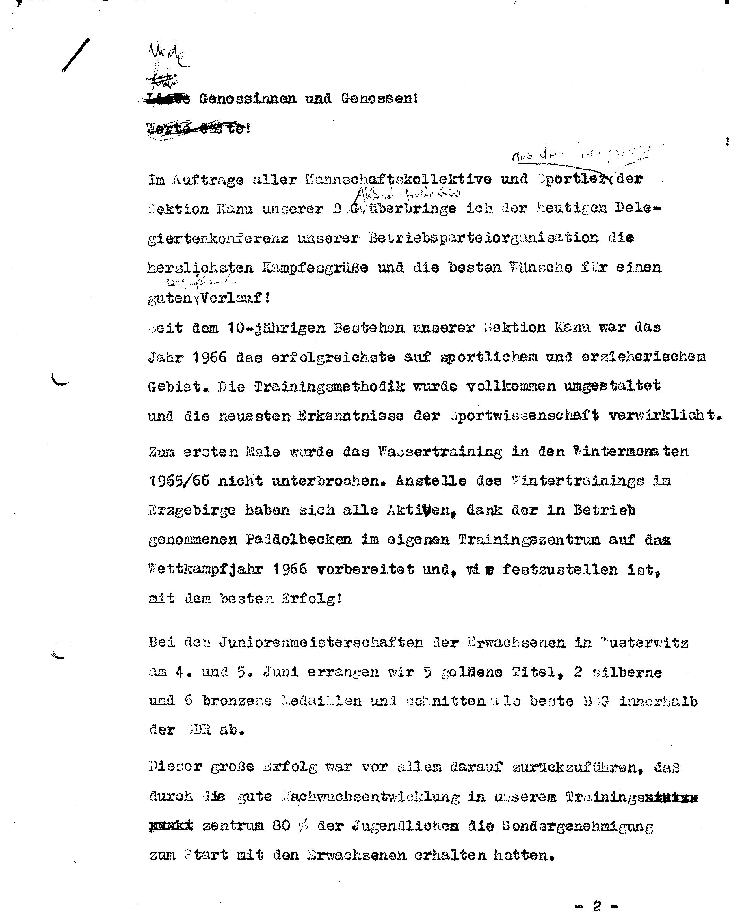 1966 Jahresbericht Erfolge Sektion (1)