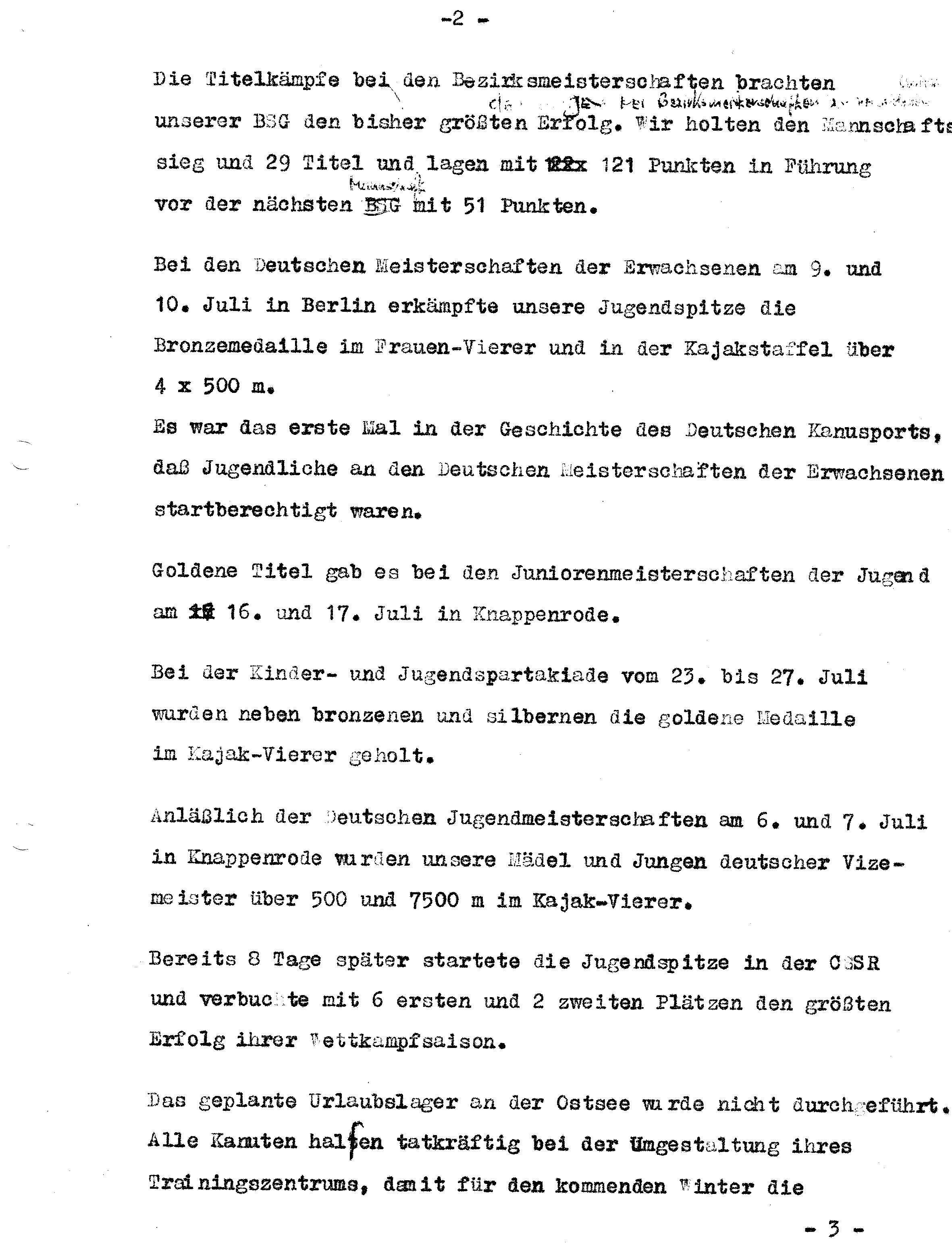 1966 Jahresbericht Erfolge Sektion (2)