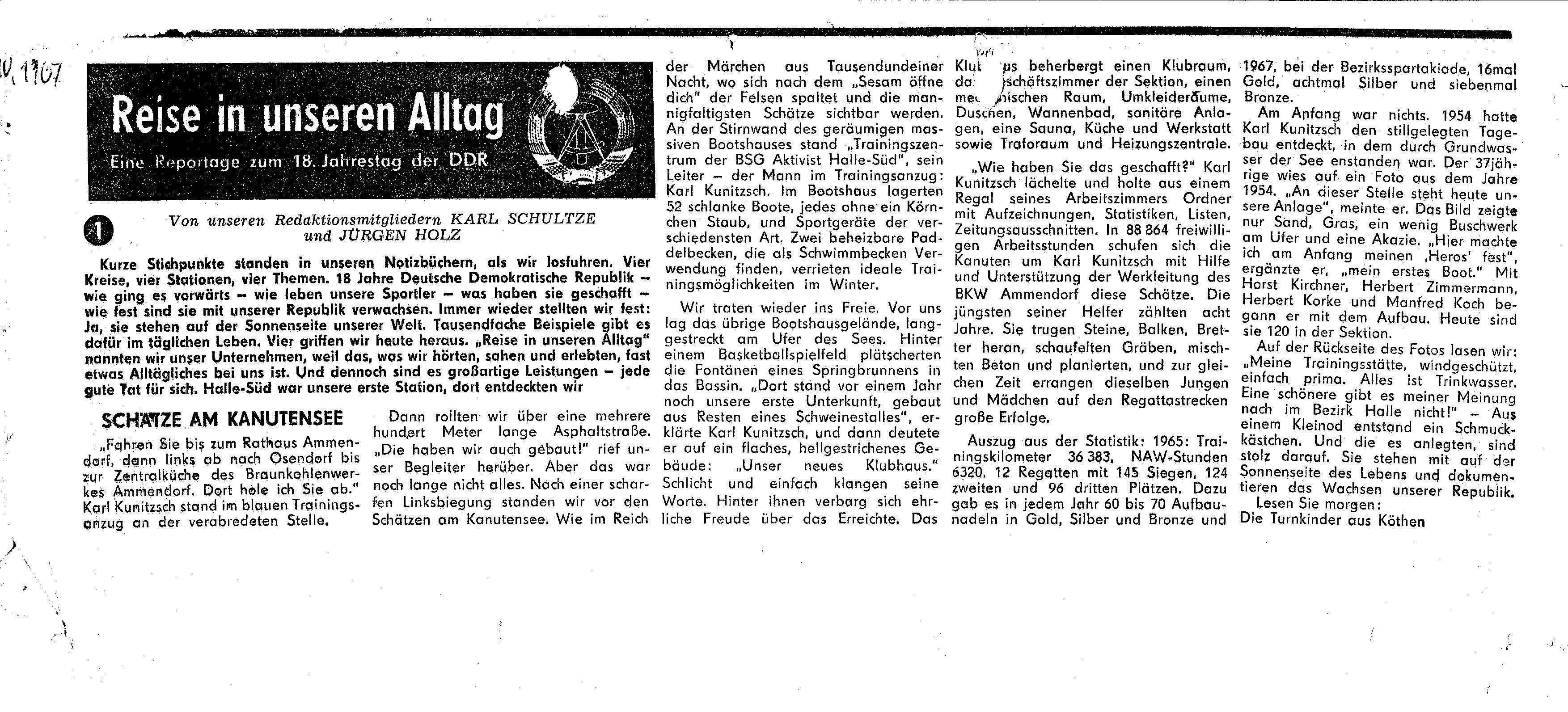 1967- 18Jahrestag der DDR-Reise in unseren Alltag