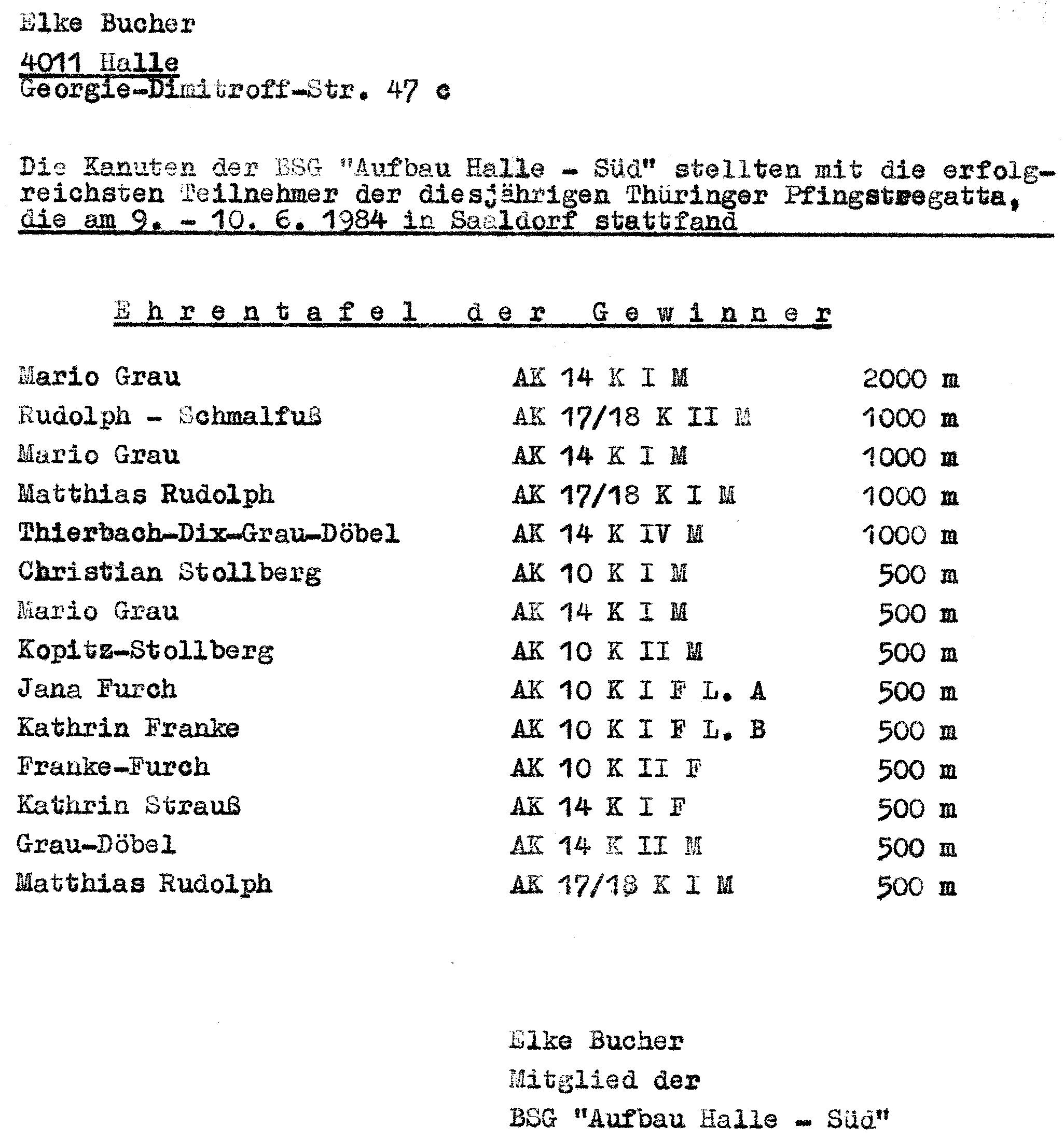 1984-06 Ehrentafel Pfingstregatta Saaldorf