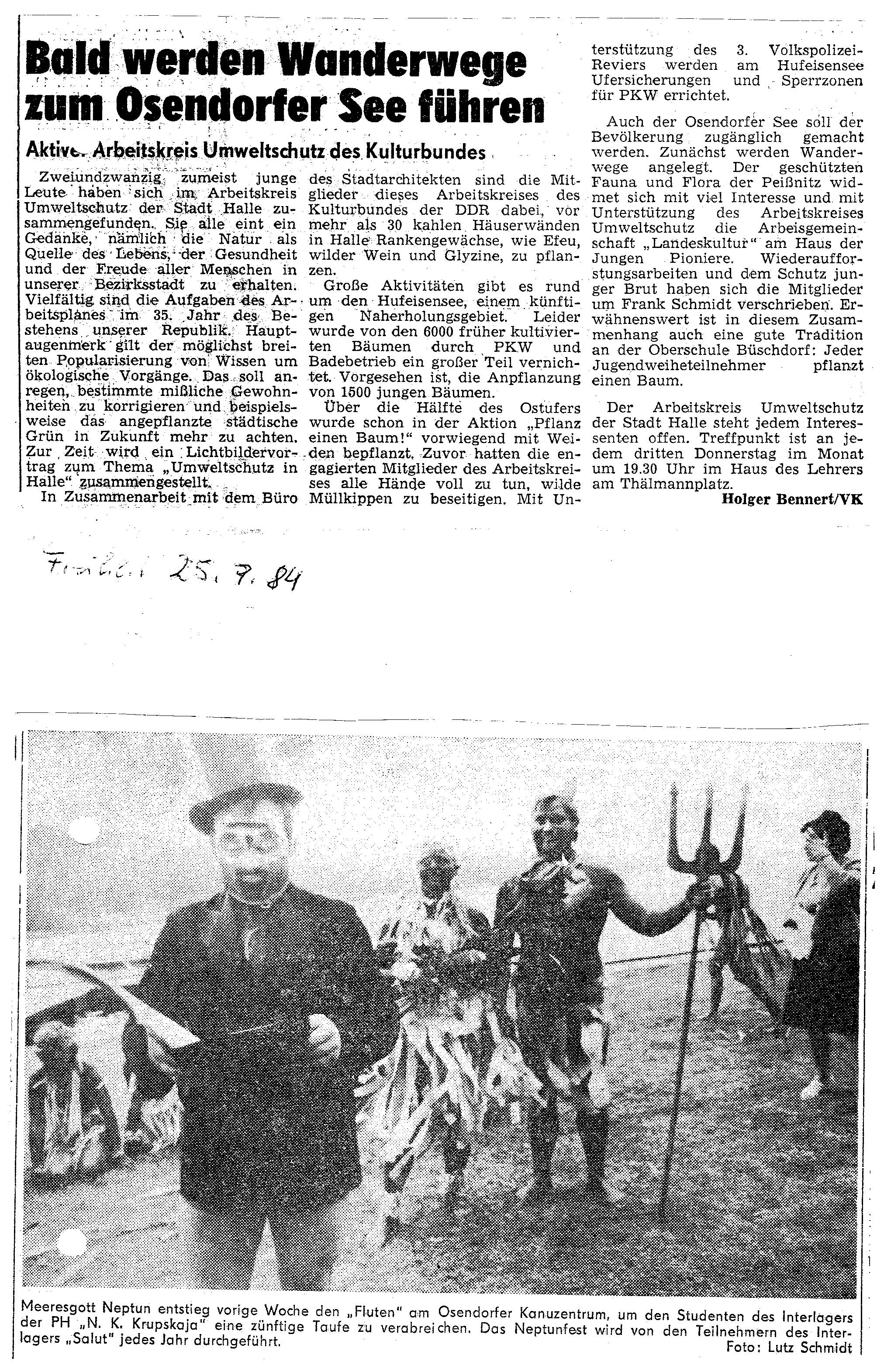 1984-07-25 Bald werden Wanderwege zum Osendorfer See führen