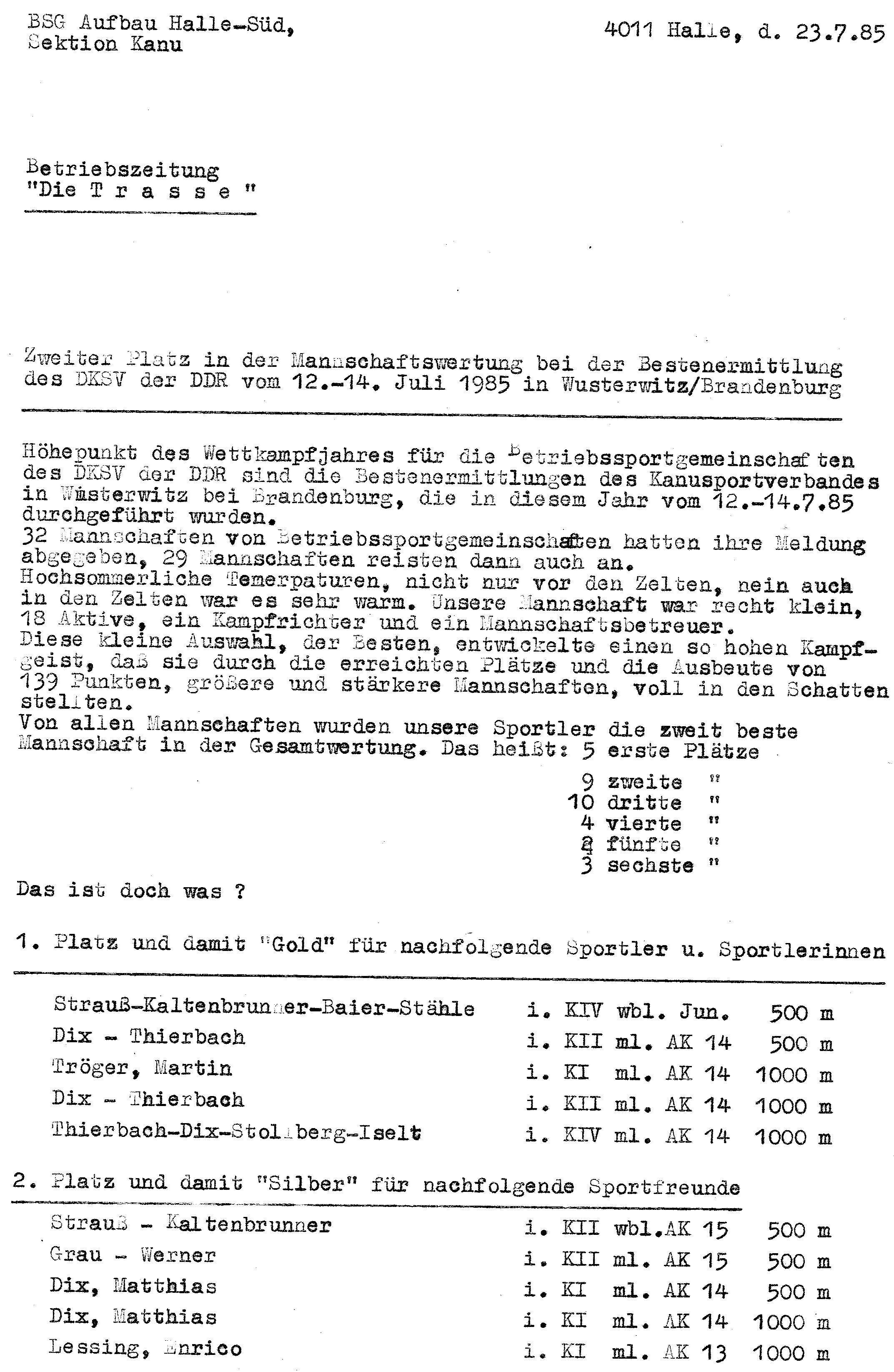 1985-07-23 PM Trasse Mannschaftswertung wusterwitz