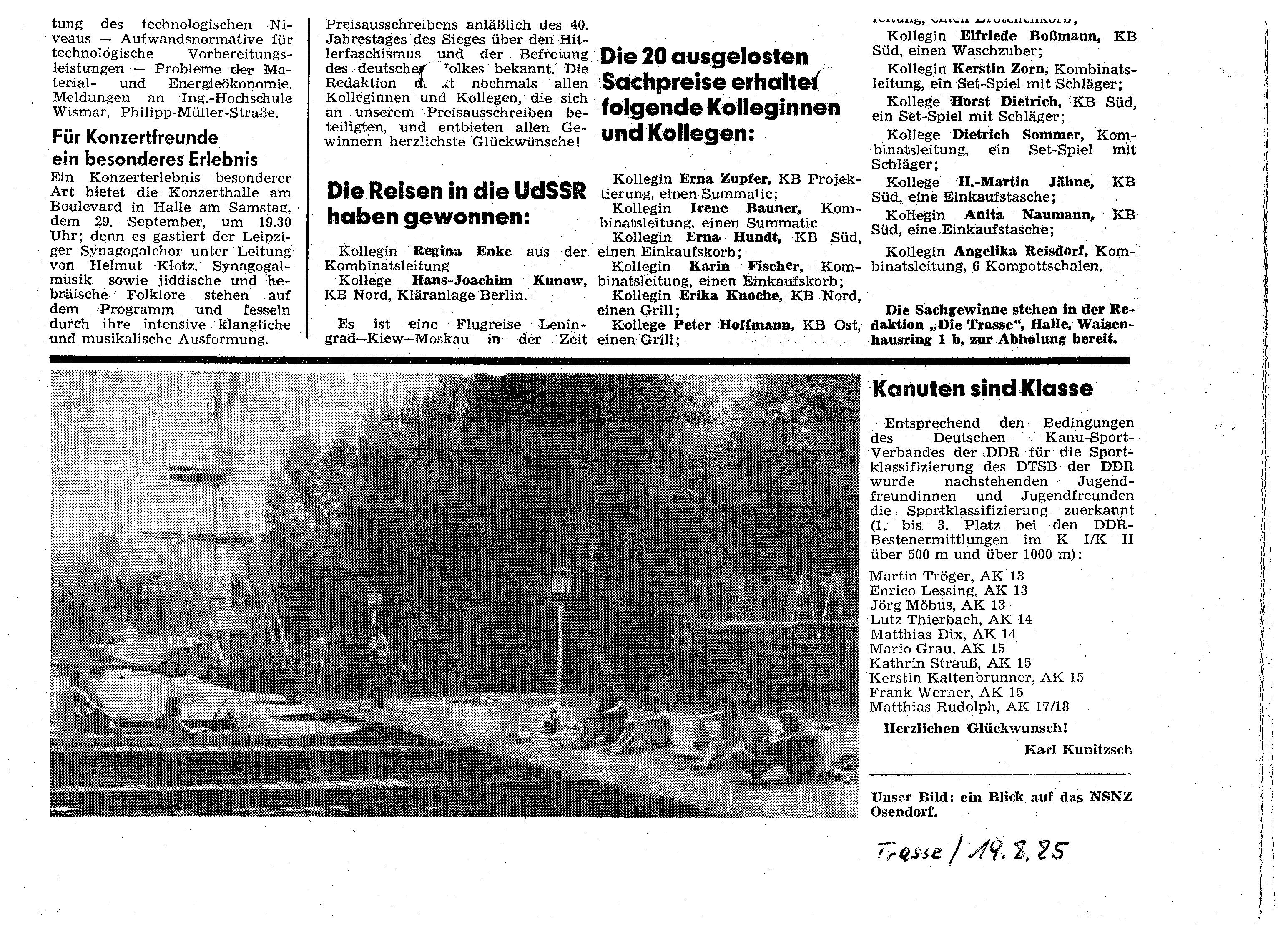 1985-08-19 Trasse Kanuten sind Klasse