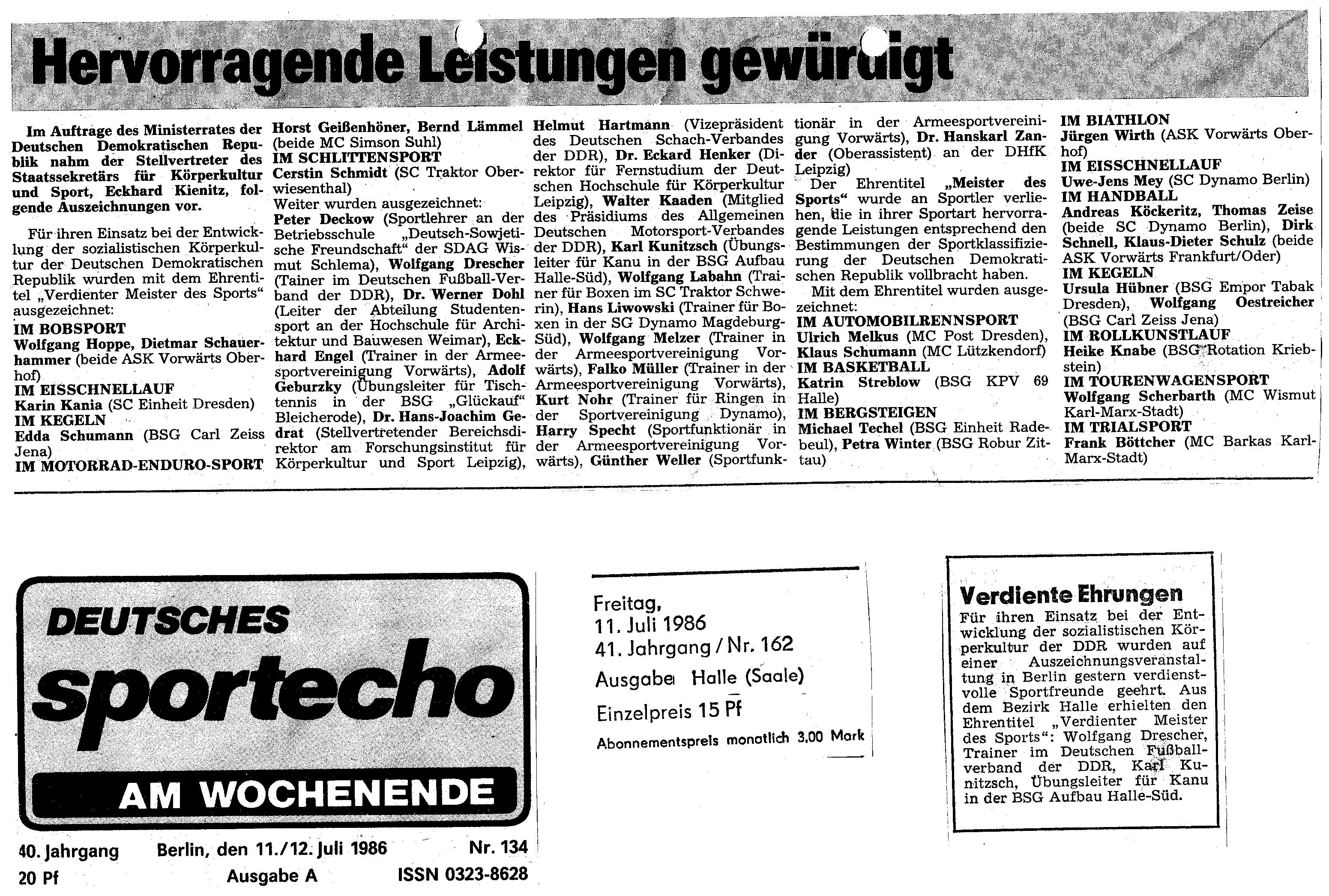 1986-07-11 Hervorragende Leistungen gewürdigt