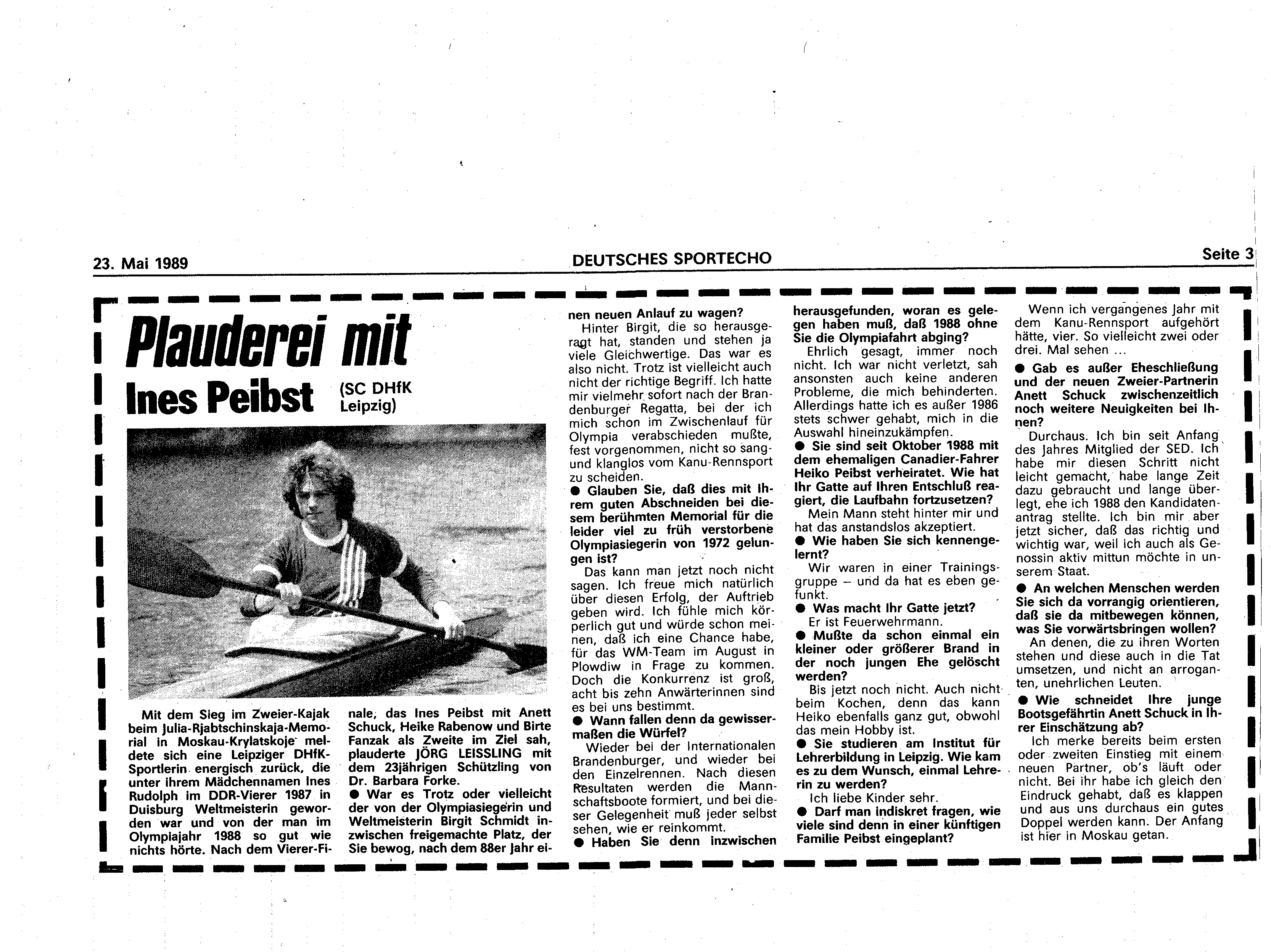 1989-05-23 Plauderei mit Ines Peibst