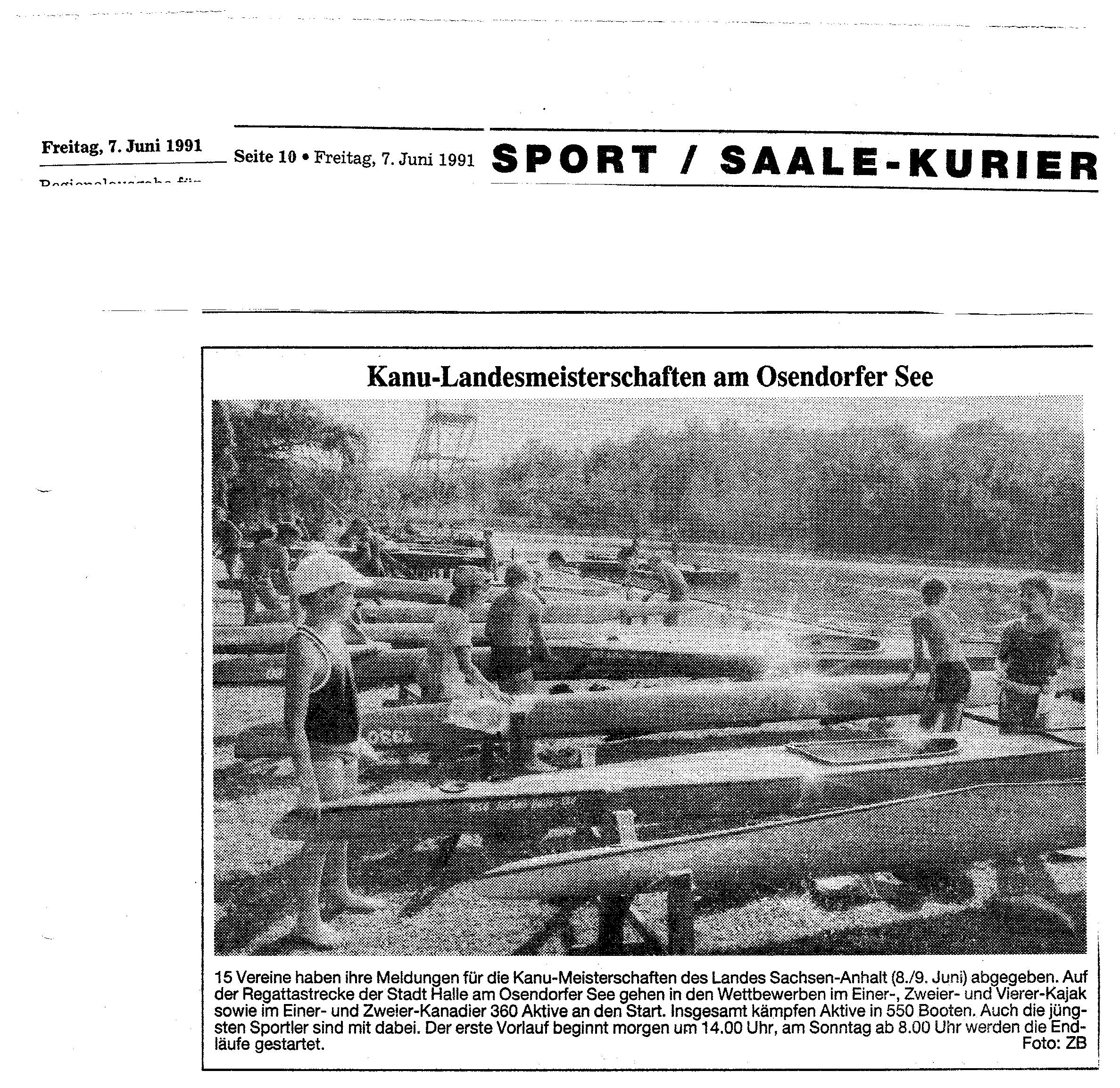 1991-06-07 MZ Kanu-Landesmeisterschaften am Osendorfer See