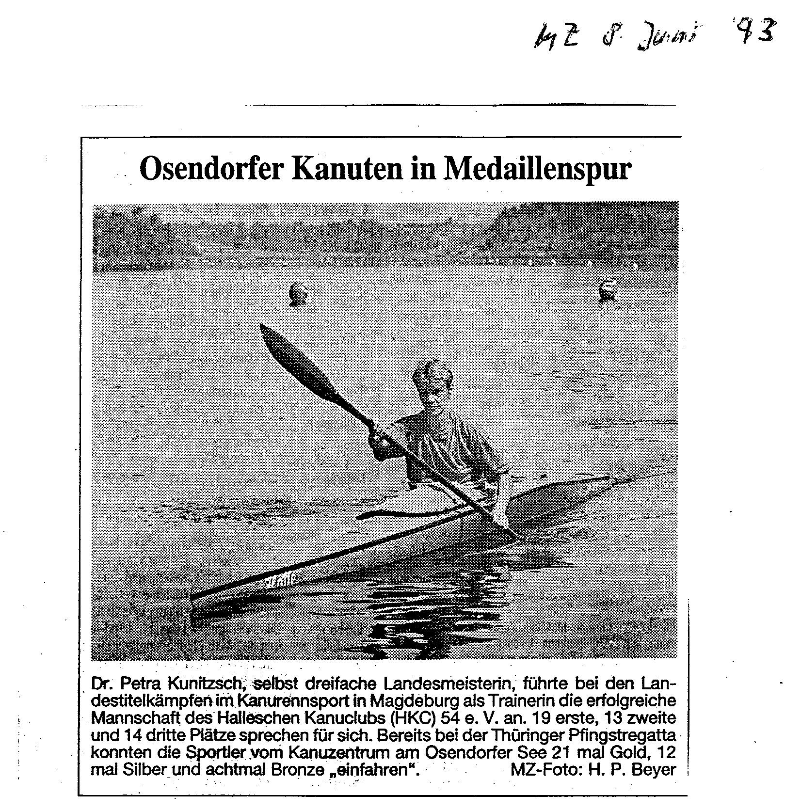 1993-06-08 MZ Osendorfer Kanuten in Medaillenspur